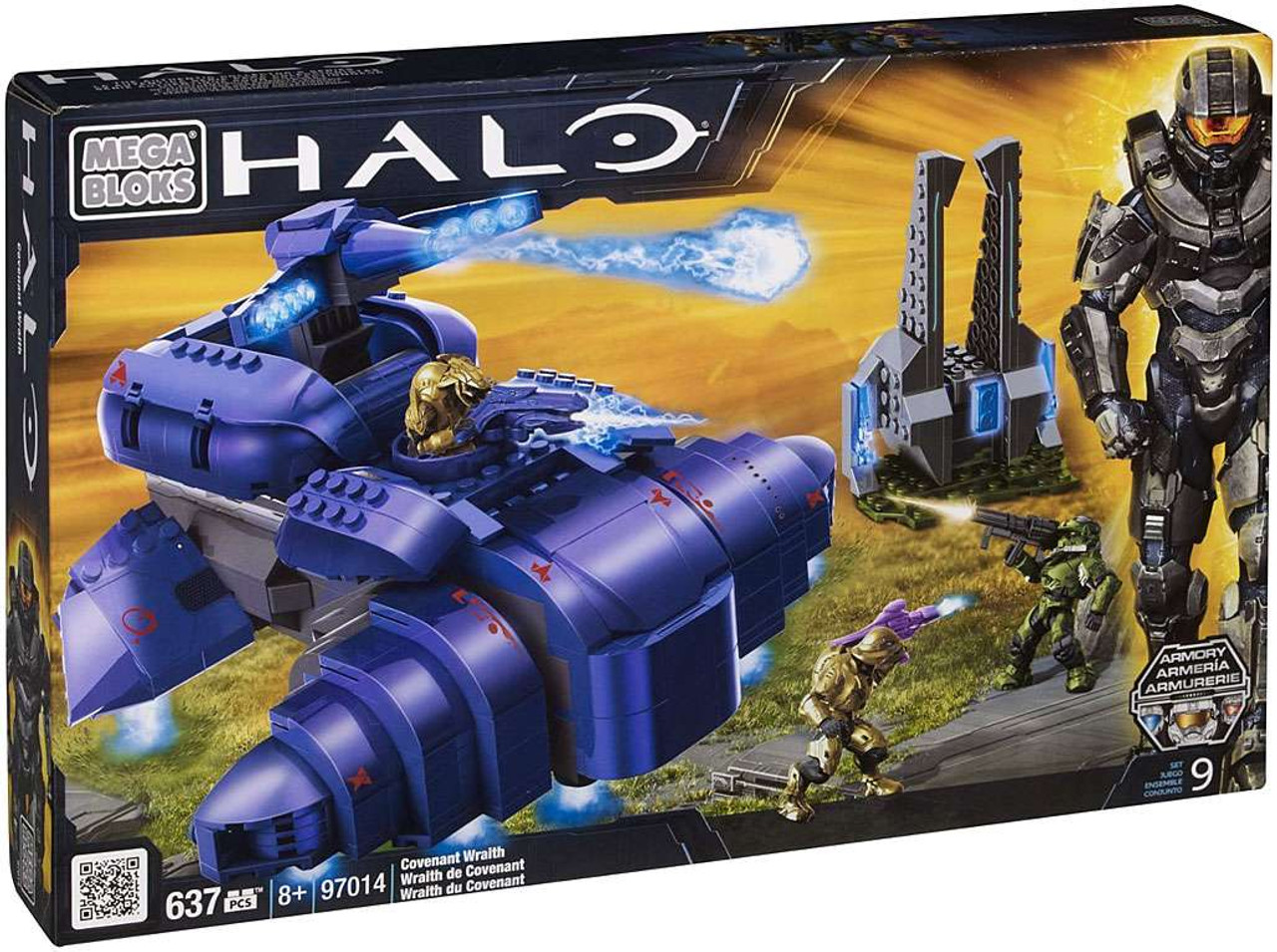 Mega Bloks Halo Covenant Wraith Set #97014 [Damaged Package]