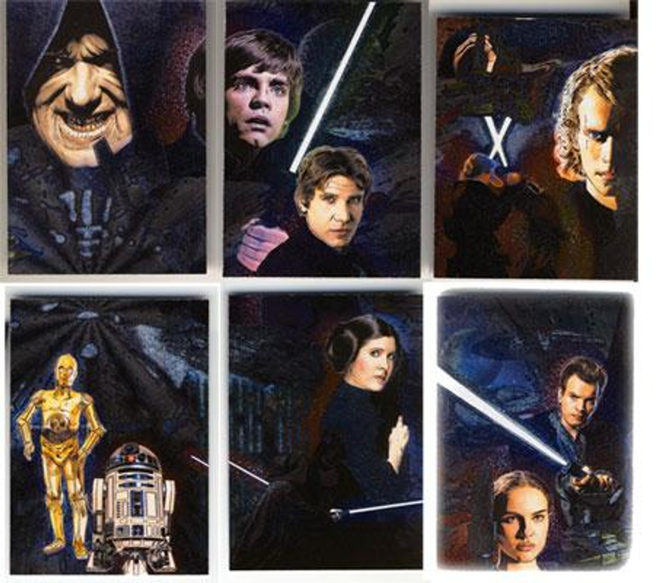 Star Wars Galaxy Series 4 Etched Foil Trading Card Set
