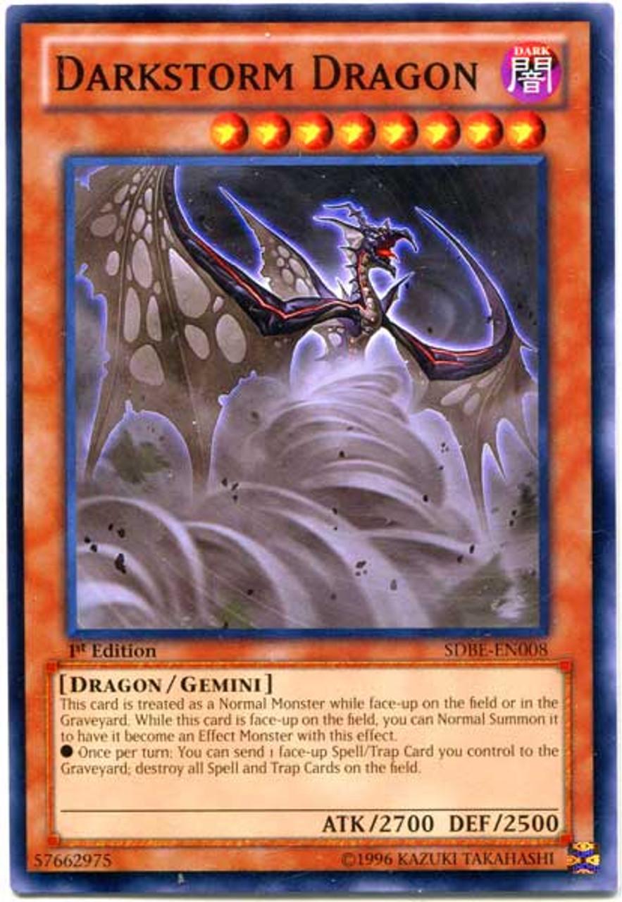 YuGiOh Saga of Blue-Eyes White Dragon Structure Deck Common Darkstorm Dragon SDBE-EN008