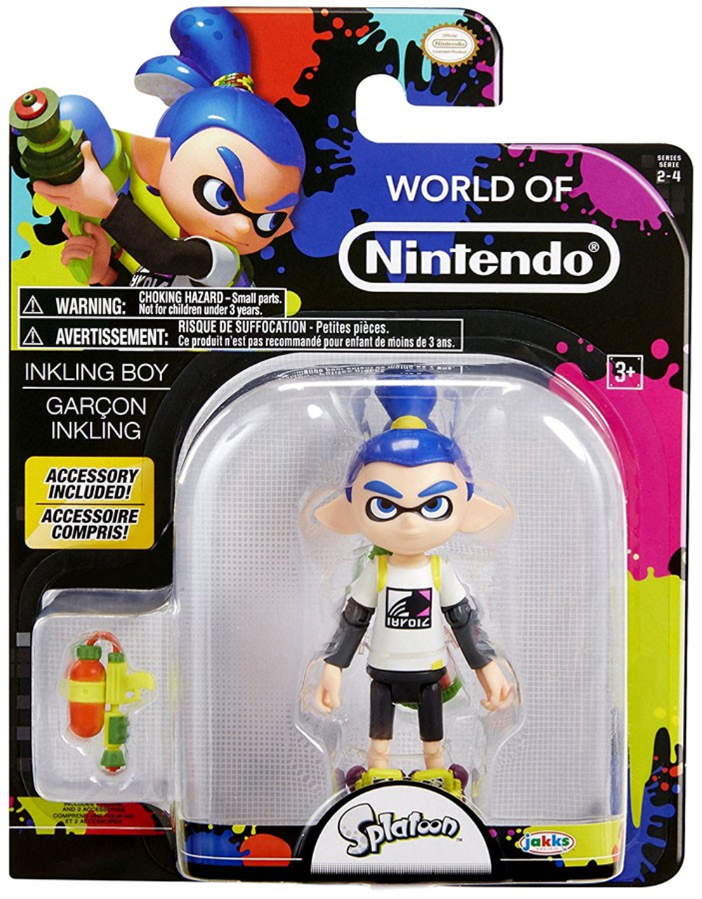 World Of Nintendo Splatoon Inkling Boy Action Figure