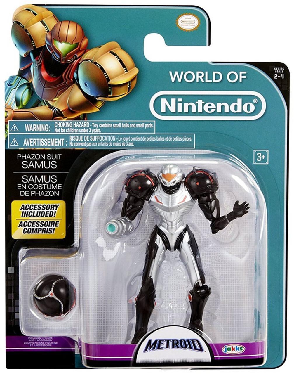World Of Nintendo Metroid Series 2 4 Phazon Suit Samus Action Figure