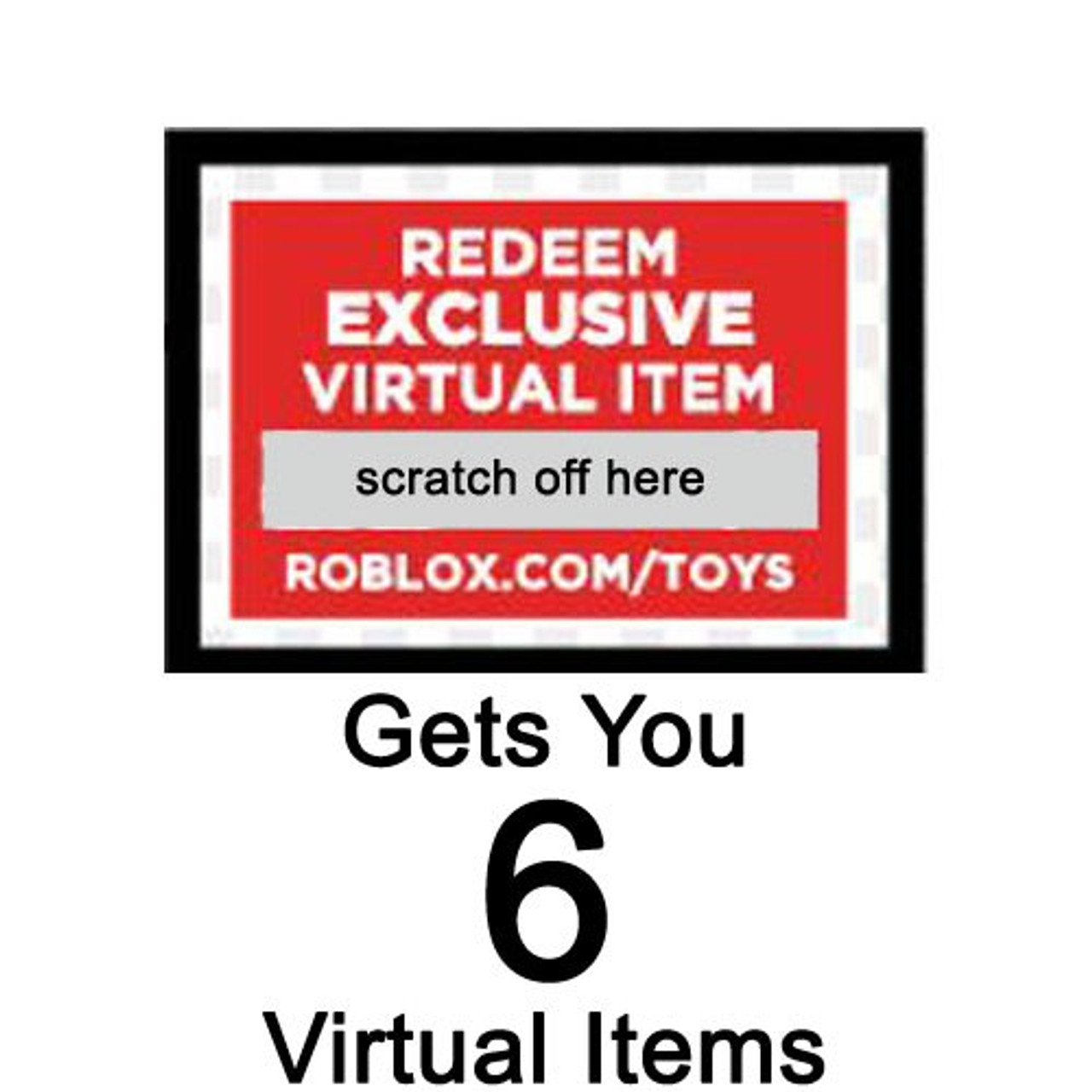 Roblox Redeem 6 Virtual Items Online Code 1 Code Gets You ...