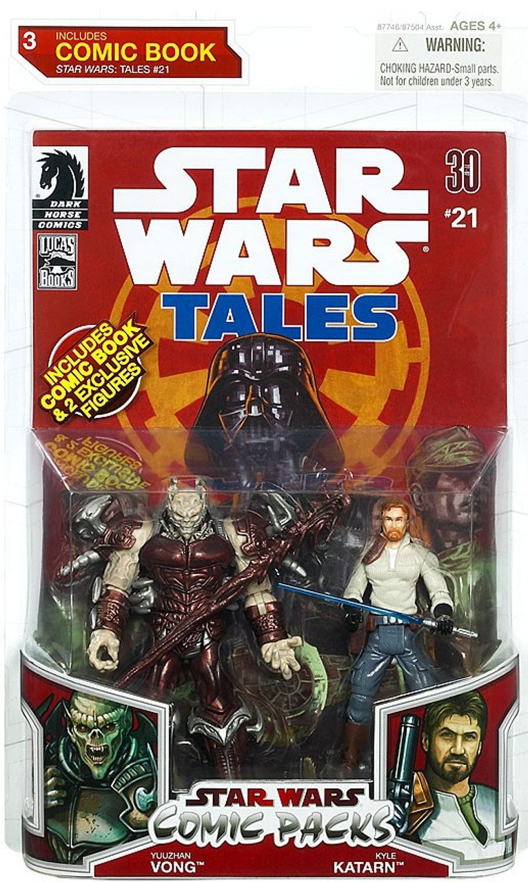Star Wars Expanded Universe Comic Packs 2009 Yuuzhan Vong & Kyle Katarn Action Figure 2-Pack