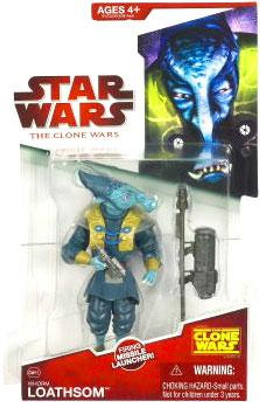 Star Wars The Clone Wars Clone Wars 2009 General Whorm Loathsom Action Figure CW15