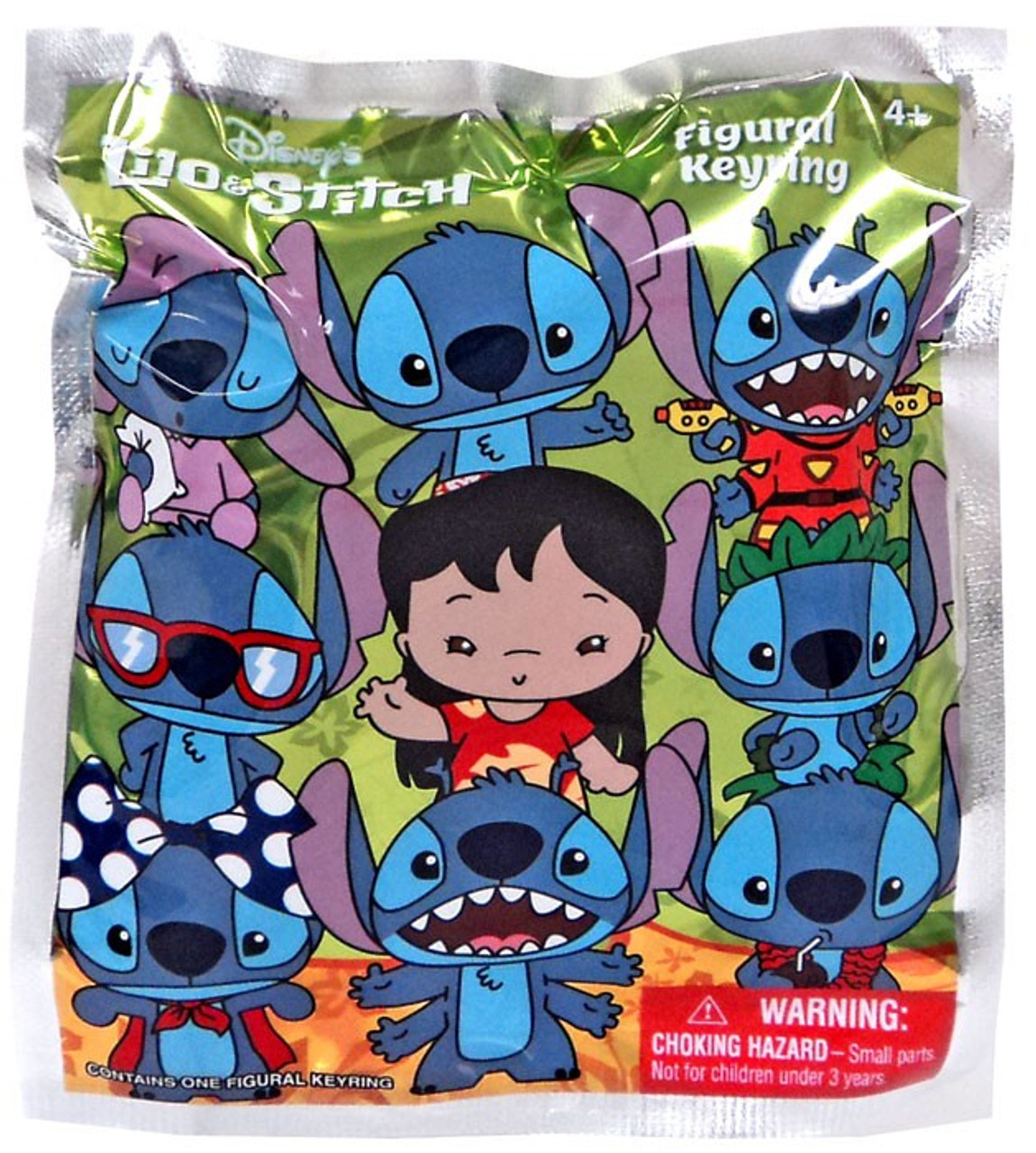 Disney 3D Figural Keyring Lilo Stitch Mystery Pack Monogram  ToyWiz