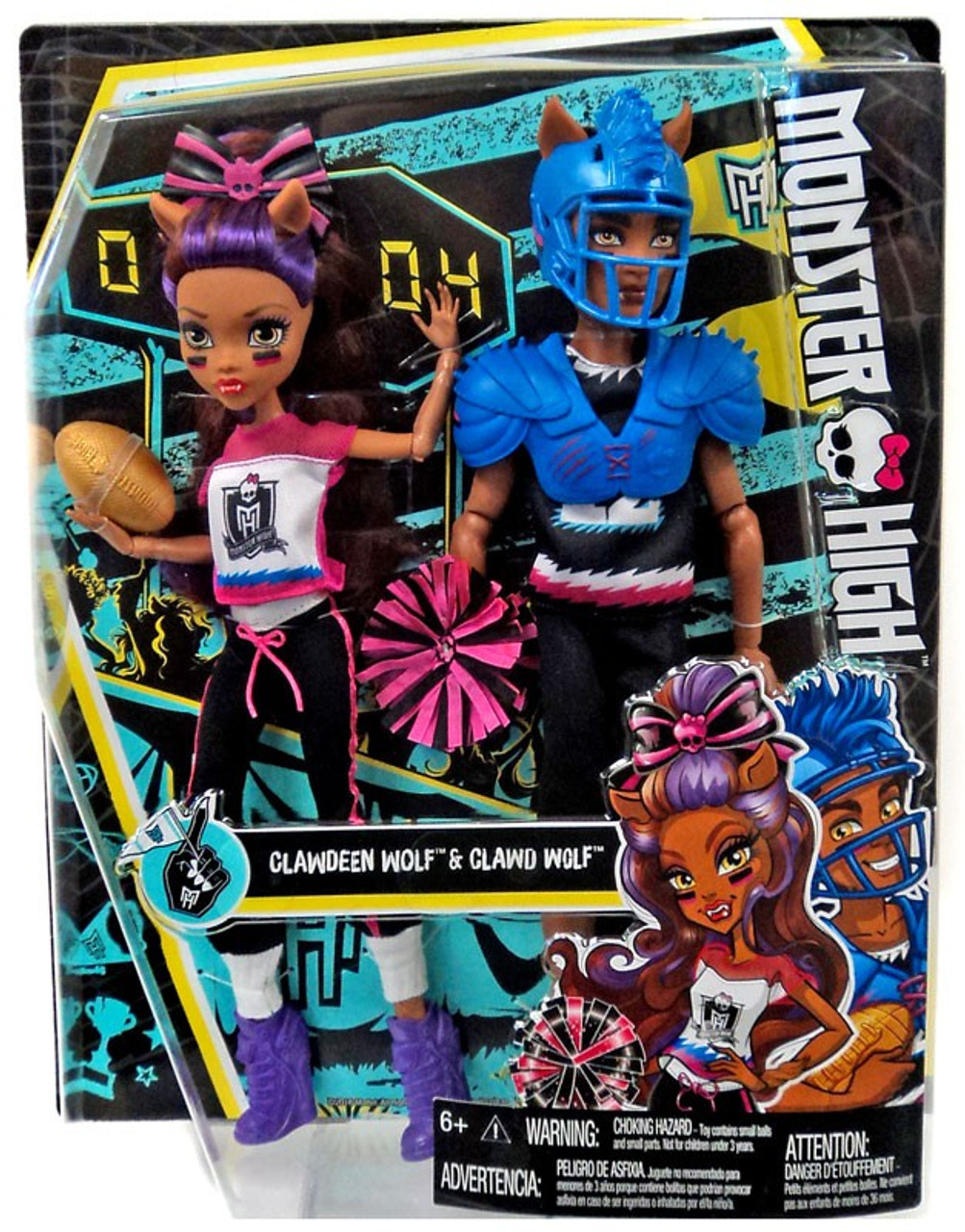 Monster High Clawdeen Wolf Clawd Wolf Doll 2Pack Mattel Toys  ToyWiz