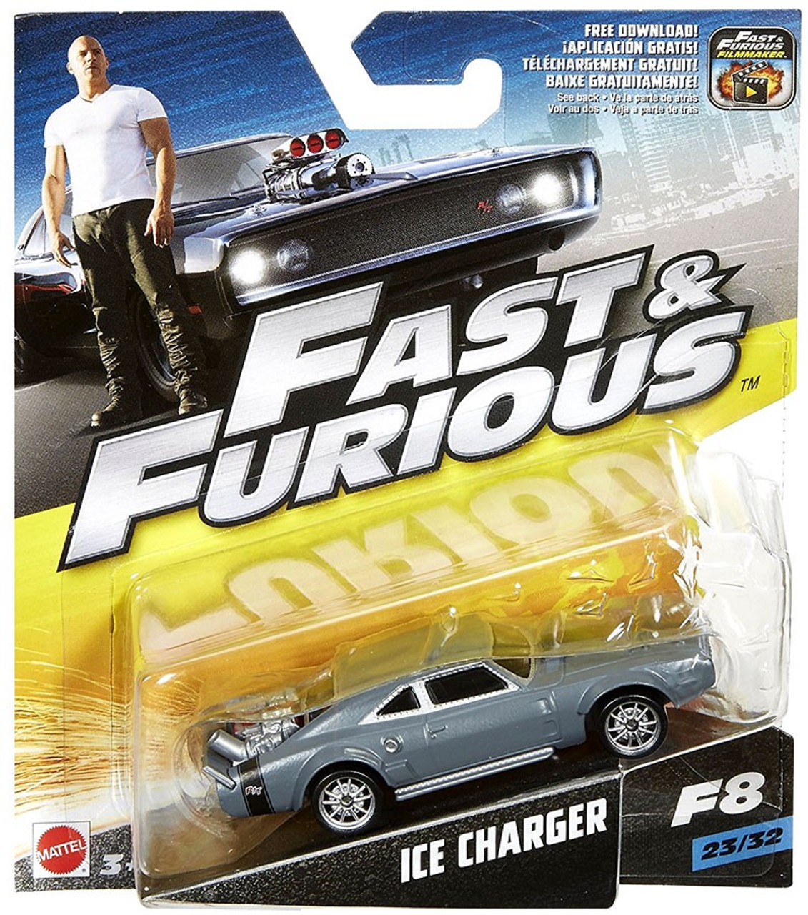 the fast and the furious f8 ice charger diecast car 2332 mattel toys toywiz. Black Bedroom Furniture Sets. Home Design Ideas