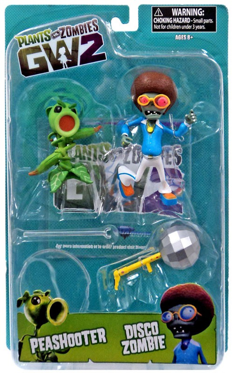 Plants Vs Zombies Garden Warfare 2 Peashooter Vs Disco Zombie Action Figure Diamond Select