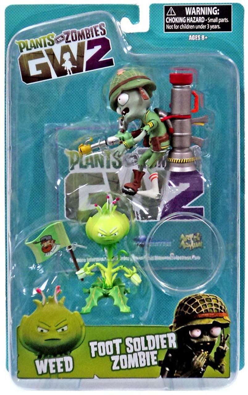 Plants Vs Zombies Garden Warfare 2 Weed Vs Foot Soldier Zombie Action Figure Diamond Select