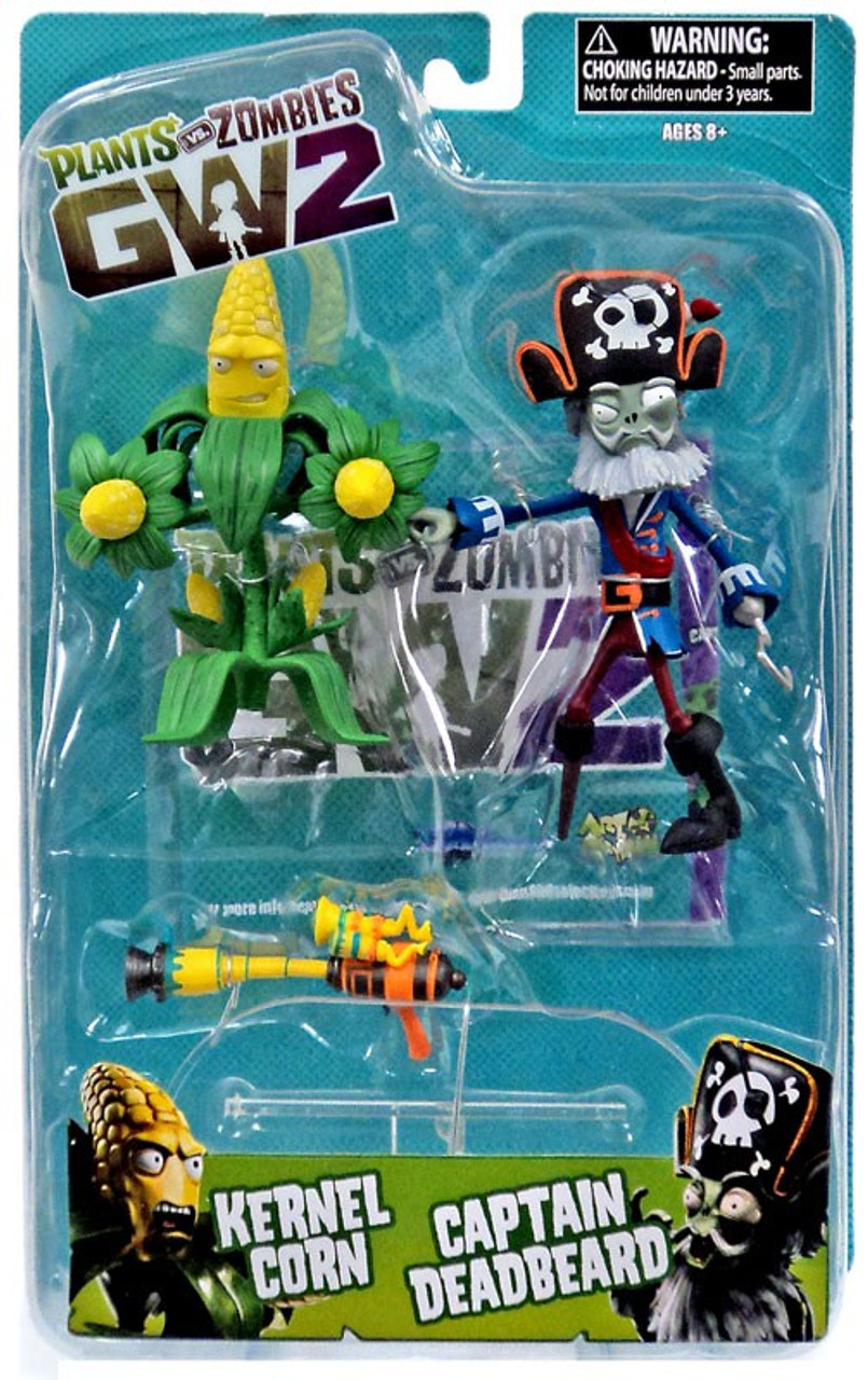 Plants Vs Zombies Garden Warfare 2 Kernel Corn Vs Captain Deadbeard Action Figure Diamond