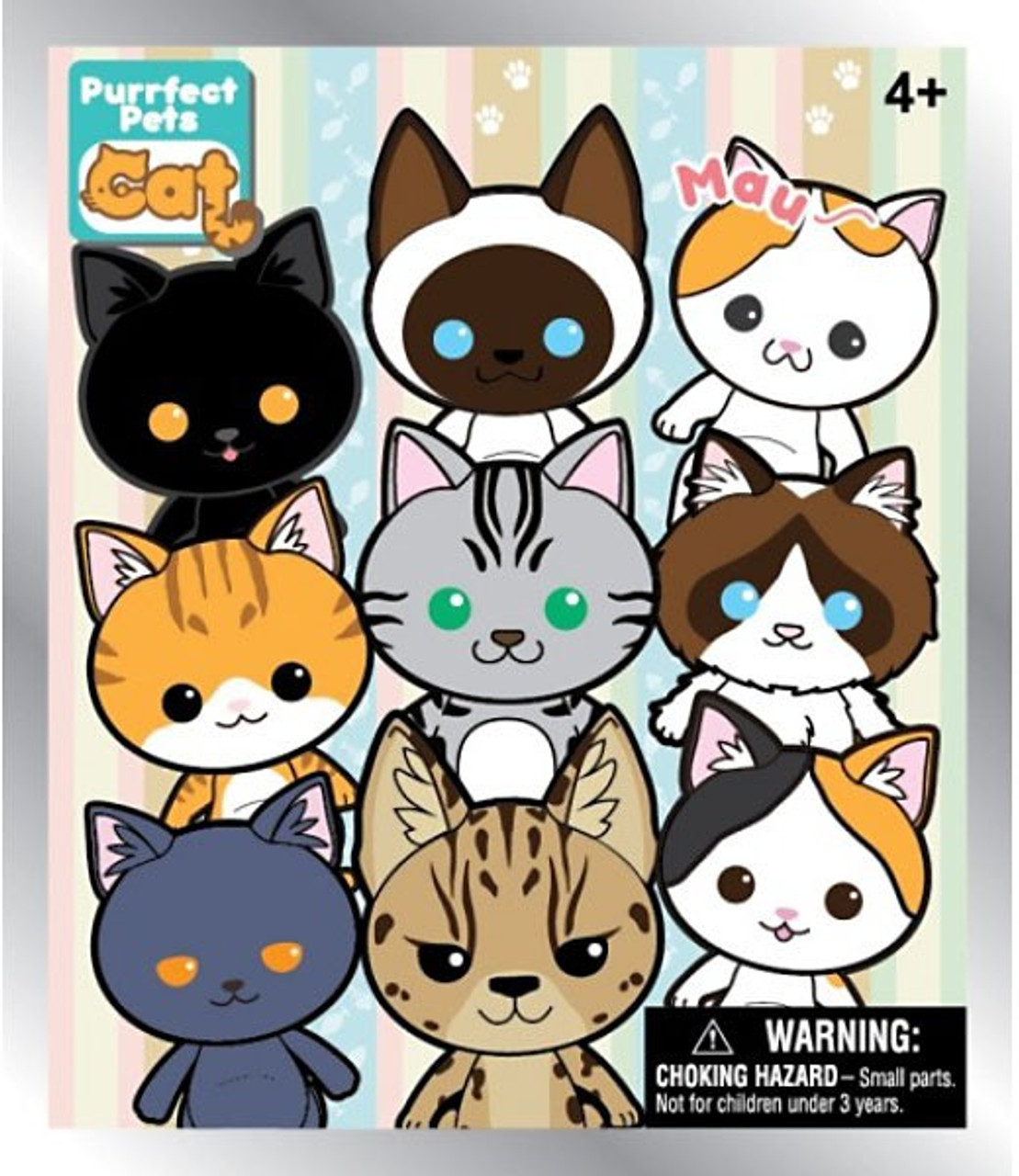 3D Figural Keyring Purrfect Pets Cat Mystery Box [24 Packs]