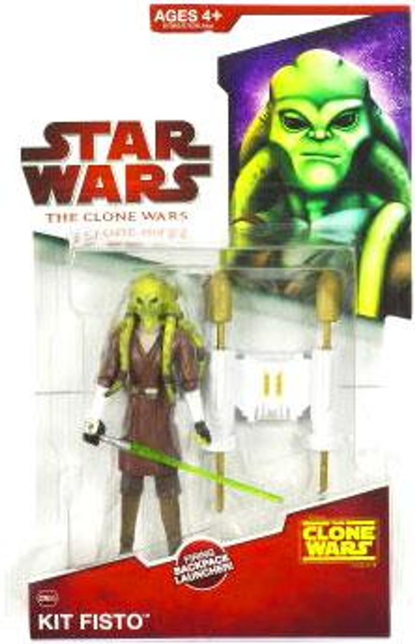 Star Wars The Clone Wars Clone Wars 2009 Kit Fisto Action Figure CW05