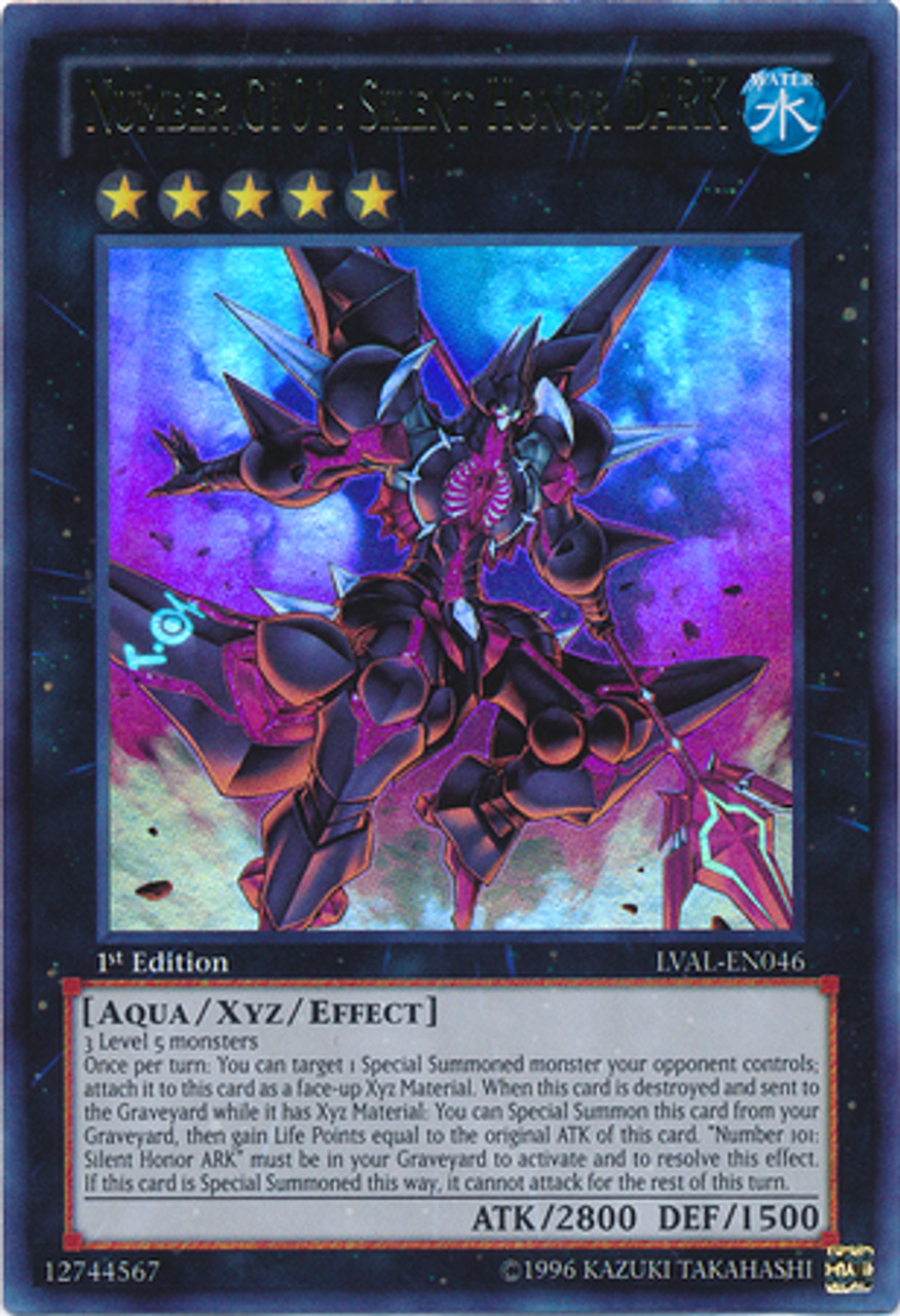 YuGiOh Zexal Legacy of the Valiant Ultra Rare Number C101: Silent Honor DARK LVAL-EN046