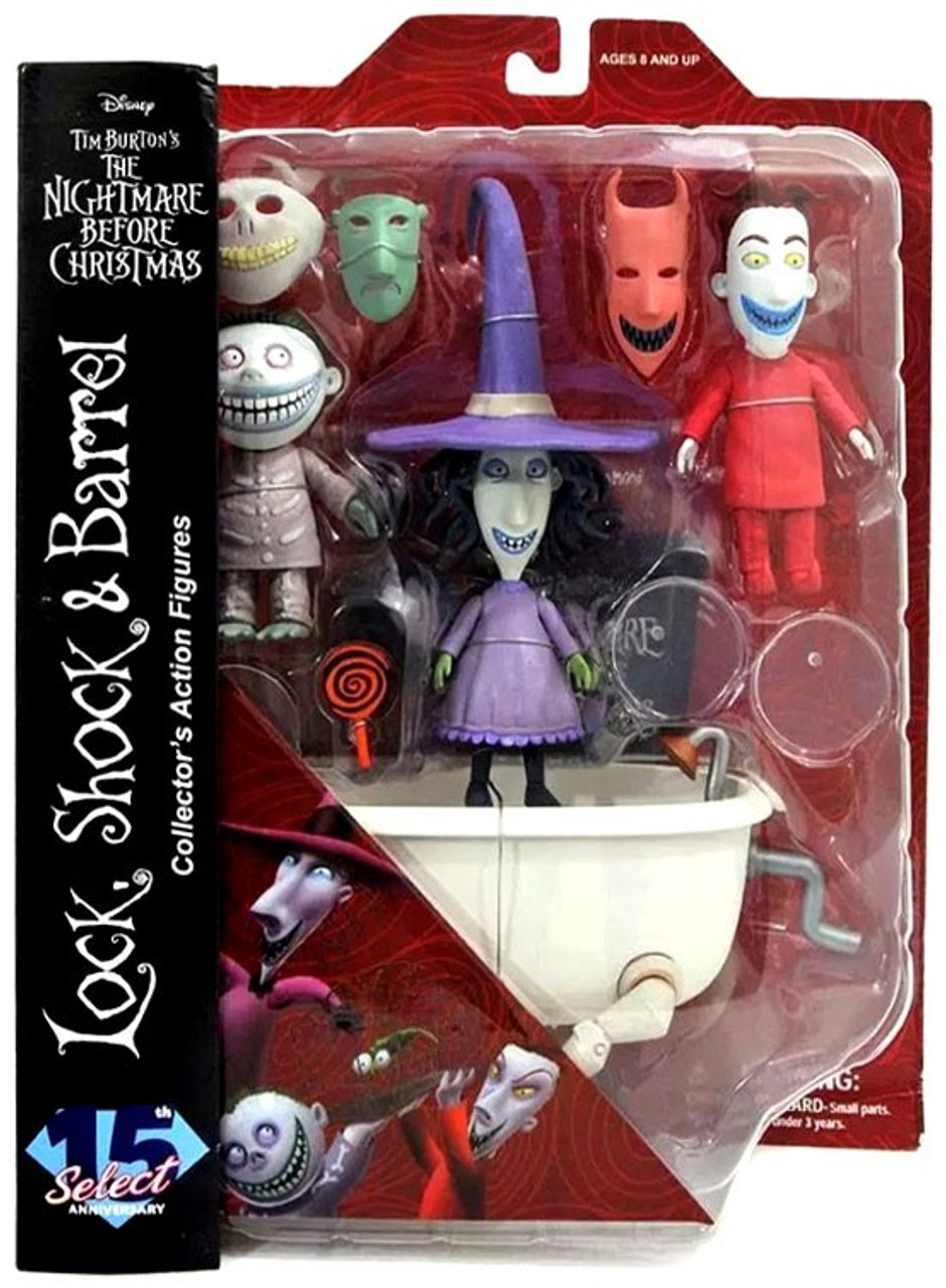 The Nightmare Before Christmas Select Series 3 Lock Shock Barrel 7 ...