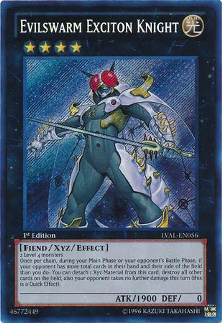 YuGiOh Zexal Legacy of the Valiant Secret Rare Evilswarm Exciton Knight LVAL-EN056