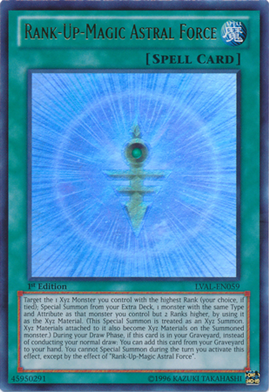 YuGiOh Zexal Legacy of the Valiant Ultra Rare Rank-Up-Magic Astral Force LVAL-EN059