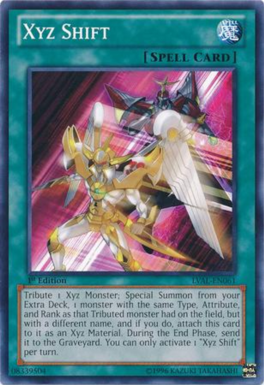 YuGiOh Zexal Legacy of the Valiant Common Xyz Shift LVAL-EN061