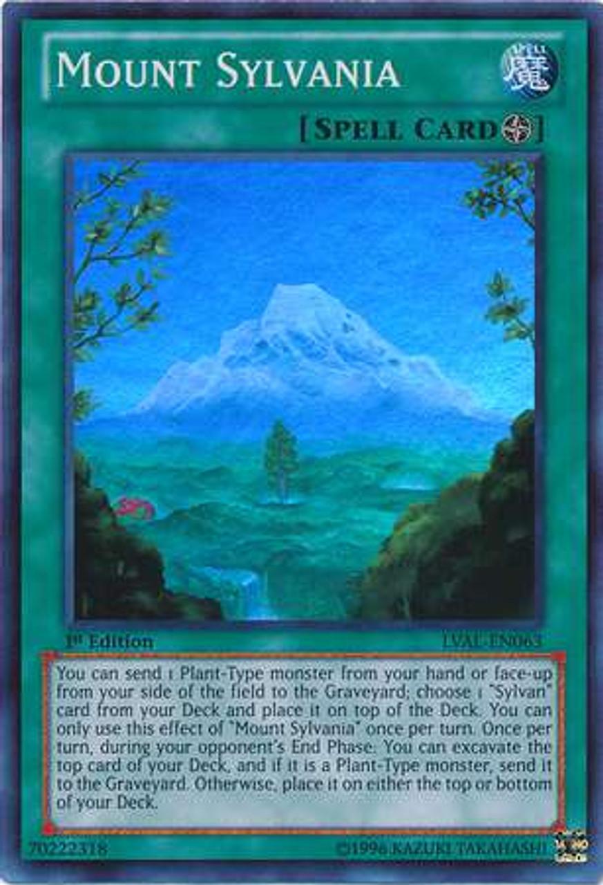 YuGiOh Zexal Legacy of the Valiant Super Rare Mount Sylvania LVAL-EN063