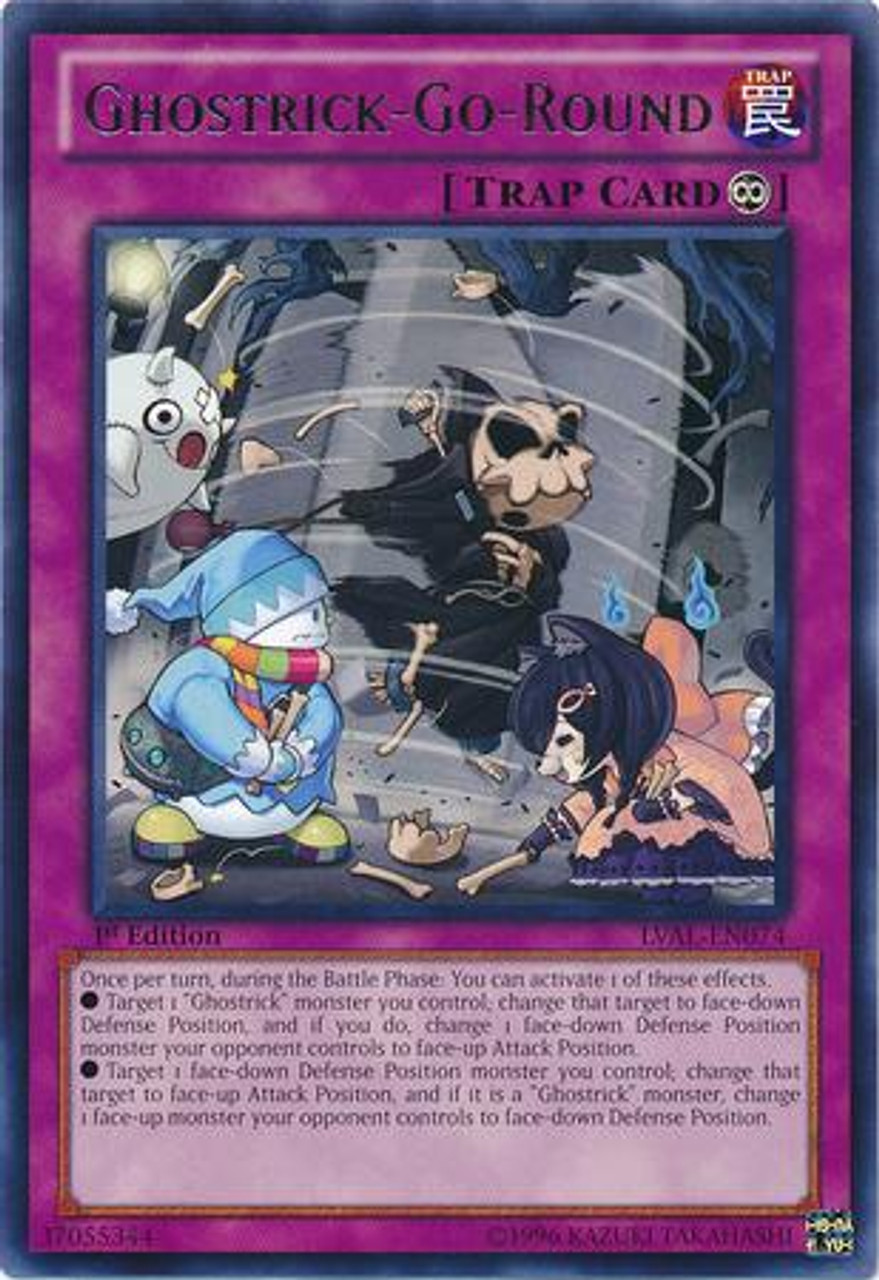 YuGiOh Zexal Legacy of the Valiant Rare Ghostrick-Go-Round LVAL-EN074