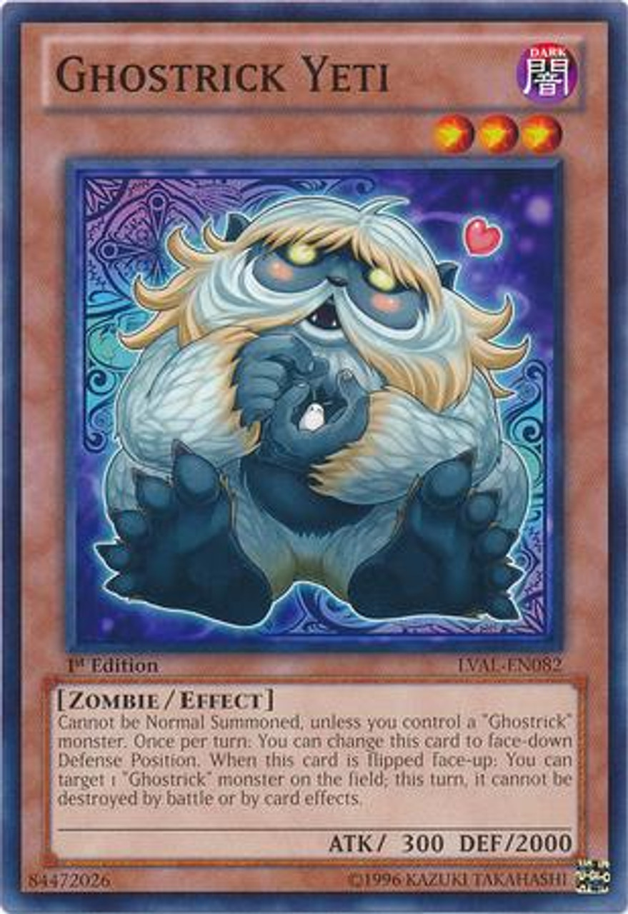 YuGiOh Zexal Legacy of the Valiant Common Ghostrick Yeti LVAL-EN082