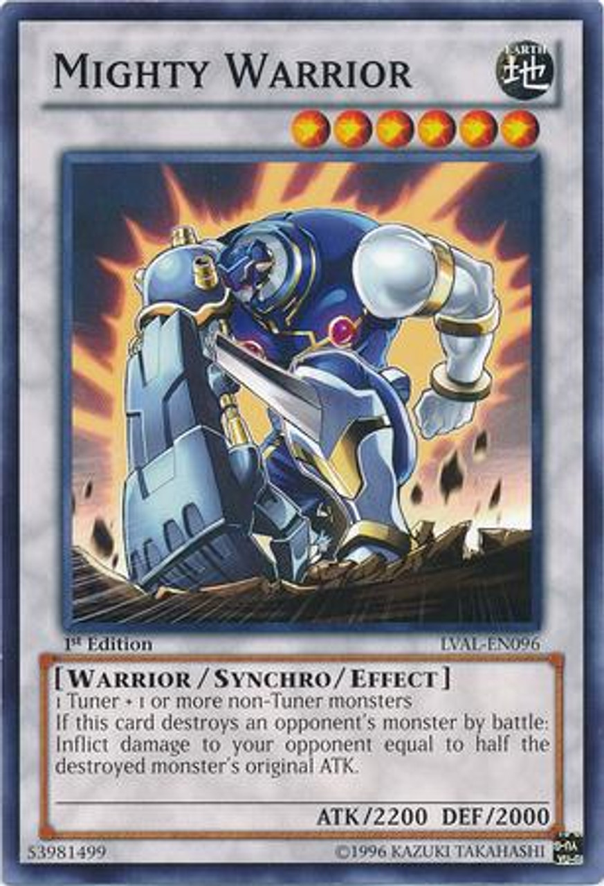 YuGiOh Zexal Legacy of the Valiant Common Mighty Warrior LVAL-EN096