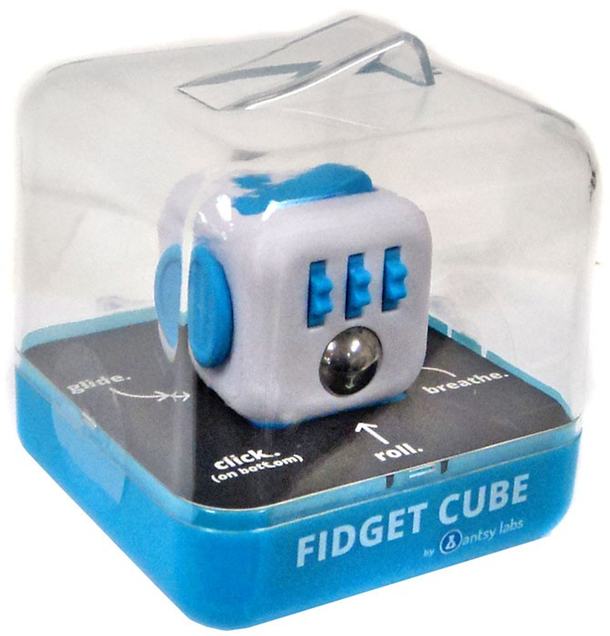 fidget cube authentic original series 1 blue white antsy. Black Bedroom Furniture Sets. Home Design Ideas