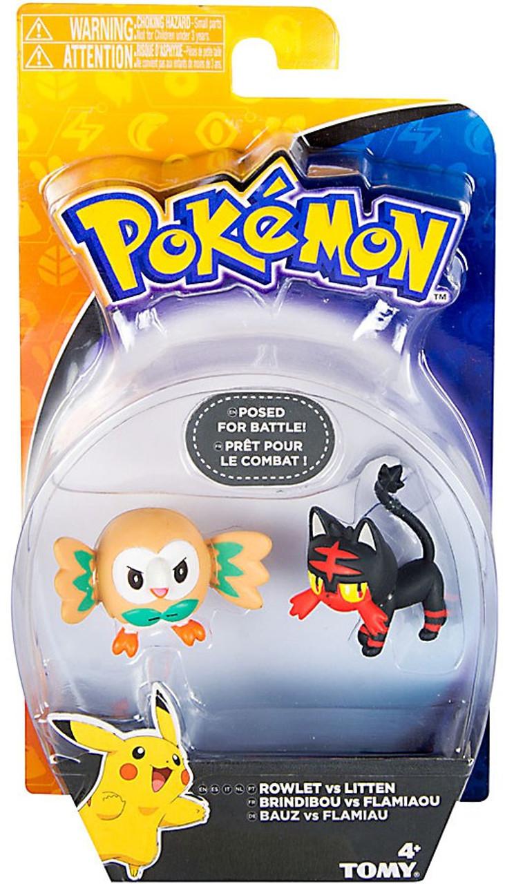 Pokedex Toys R Us : Pokemon action pose rowlet litten mini figure tomy toywiz