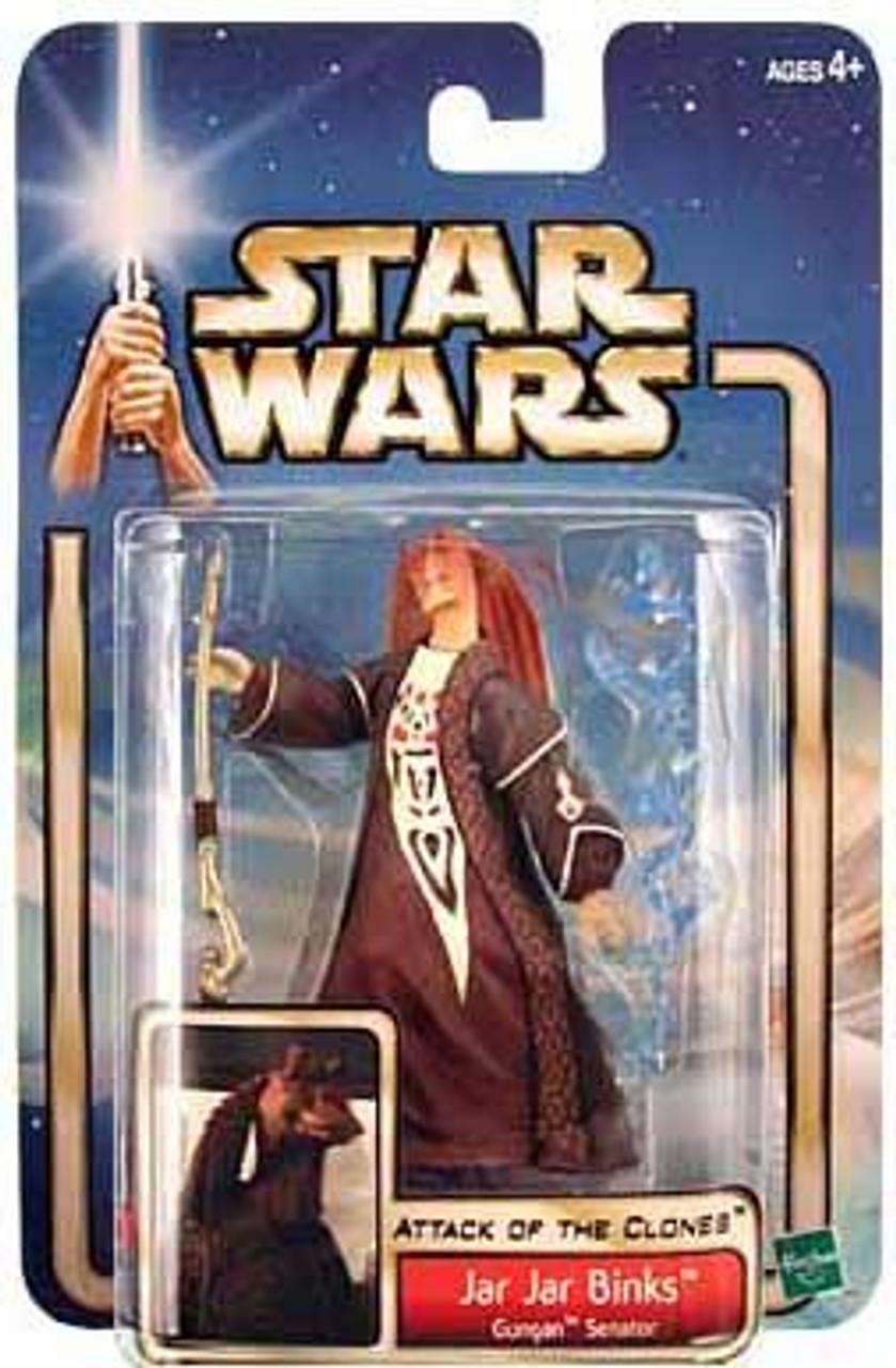 Star Wars Attack of the Clones Basic 2002 Collection 2 Jar Jar Binks Action Figure [Gungan Senator]