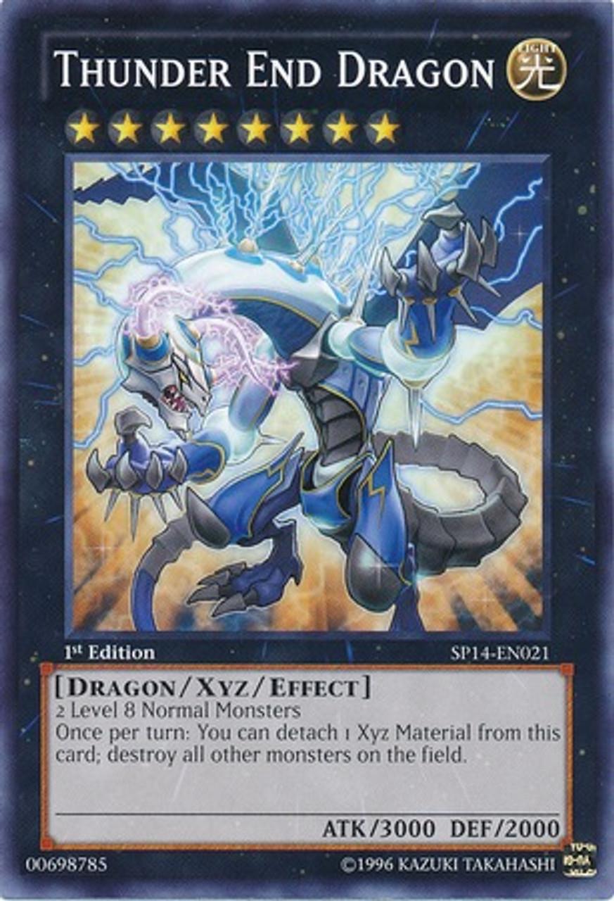 YuGiOh Zexal Star Pack 2014 Common Thunder End Dragon SP14-EN021