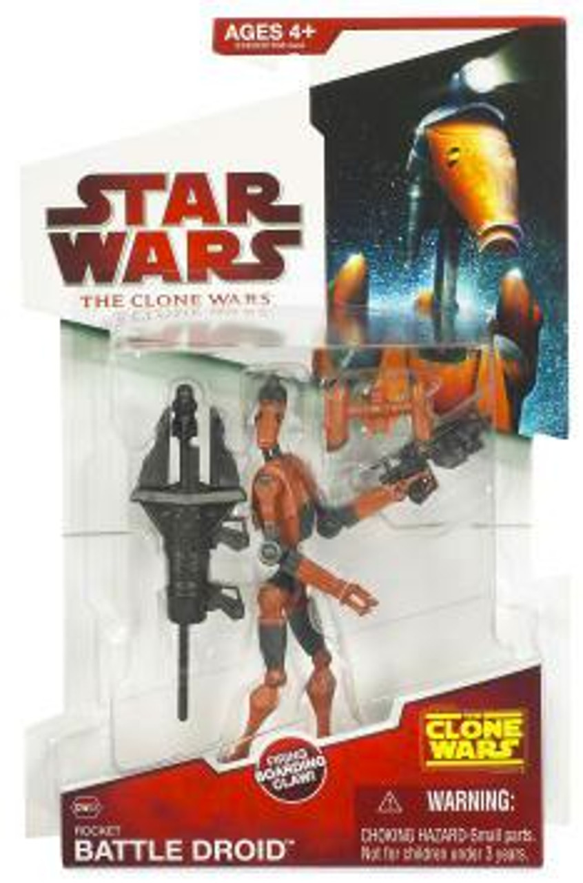 Star Wars The Clone Wars Clone Wars 2009 Rocket Battle Droid Action Figure CW03