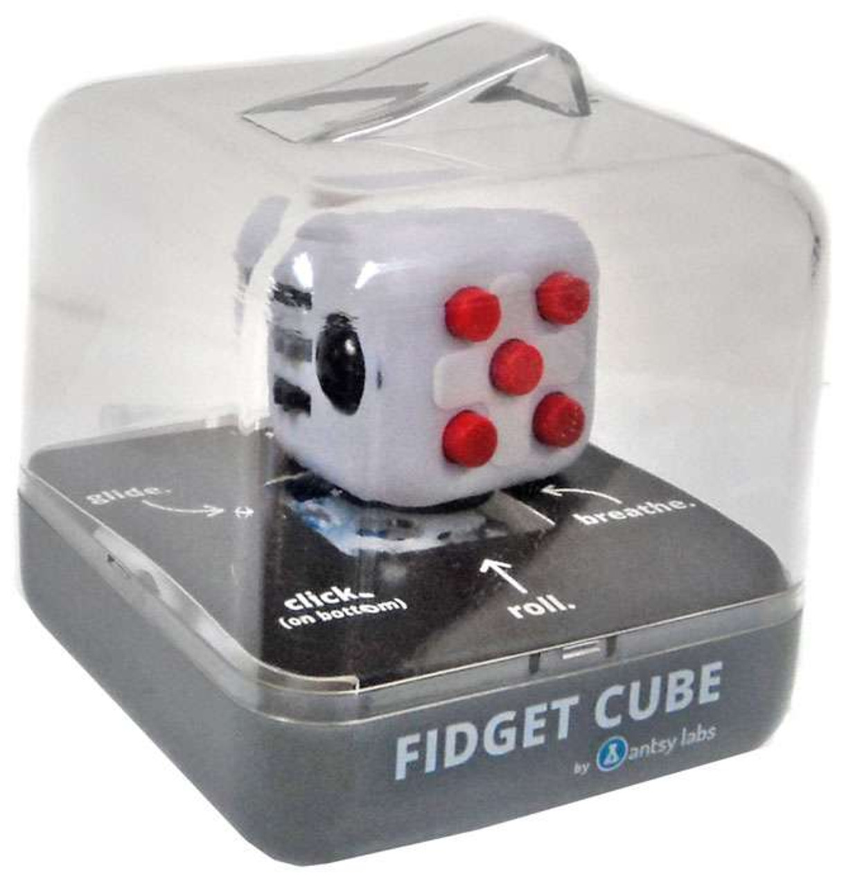 fidget cube authentic white black gray red antsy labs. Black Bedroom Furniture Sets. Home Design Ideas