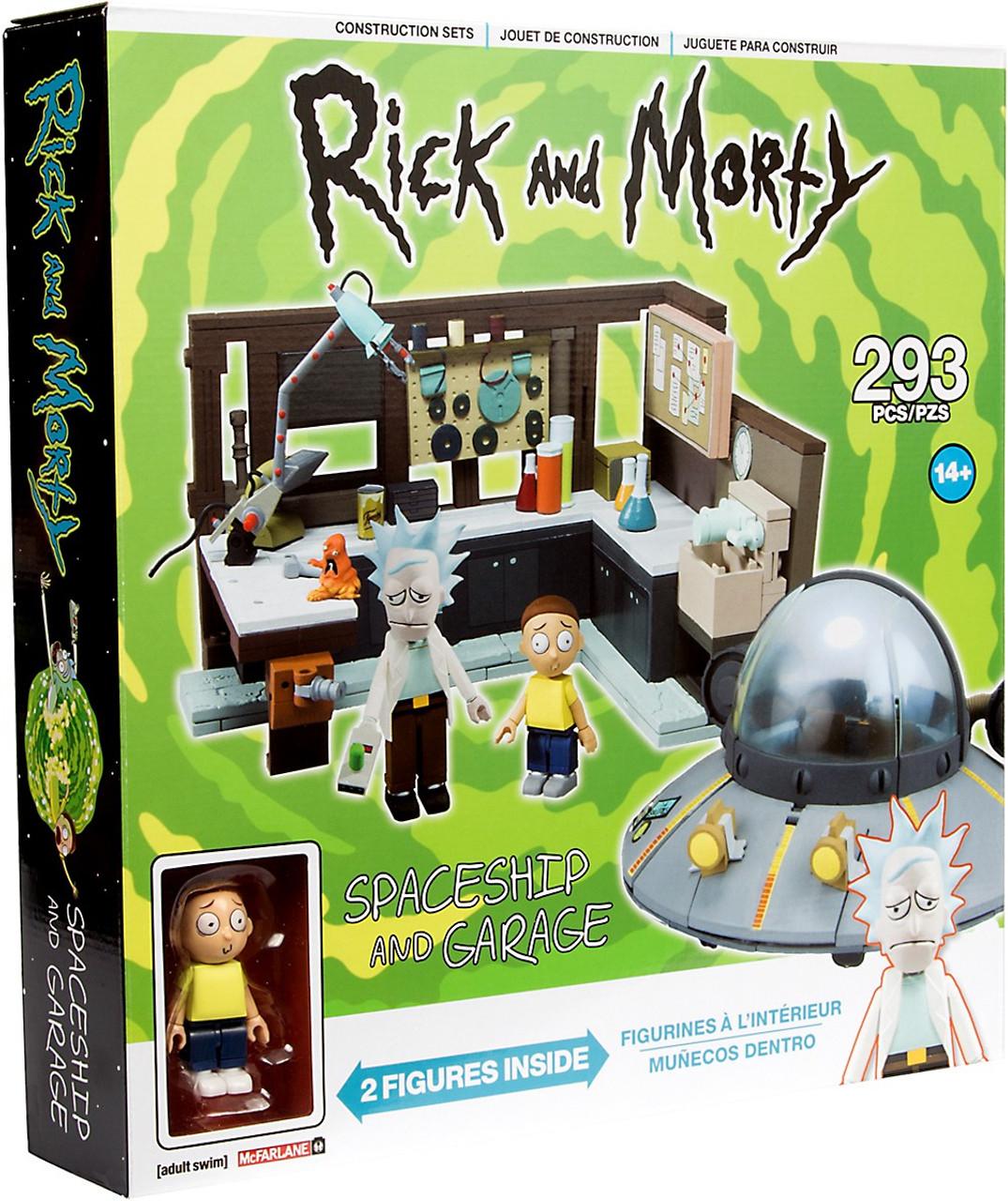 Mcfarlane Toys Rick Morty Spaceship Garage Large