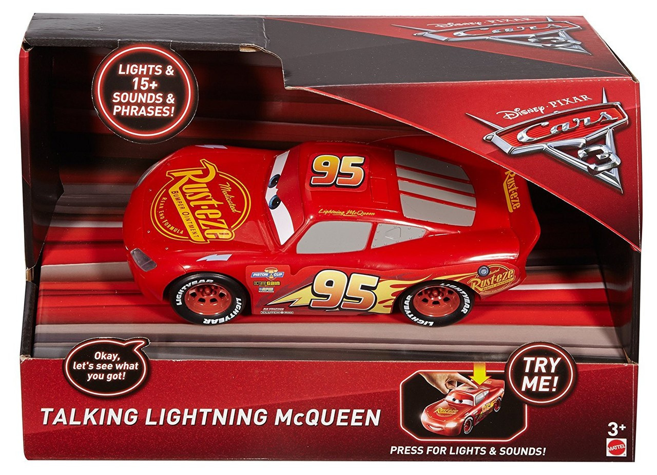 Disney Cars Cars Talking Lightning Mcqueen Vehicle Mattel Toys