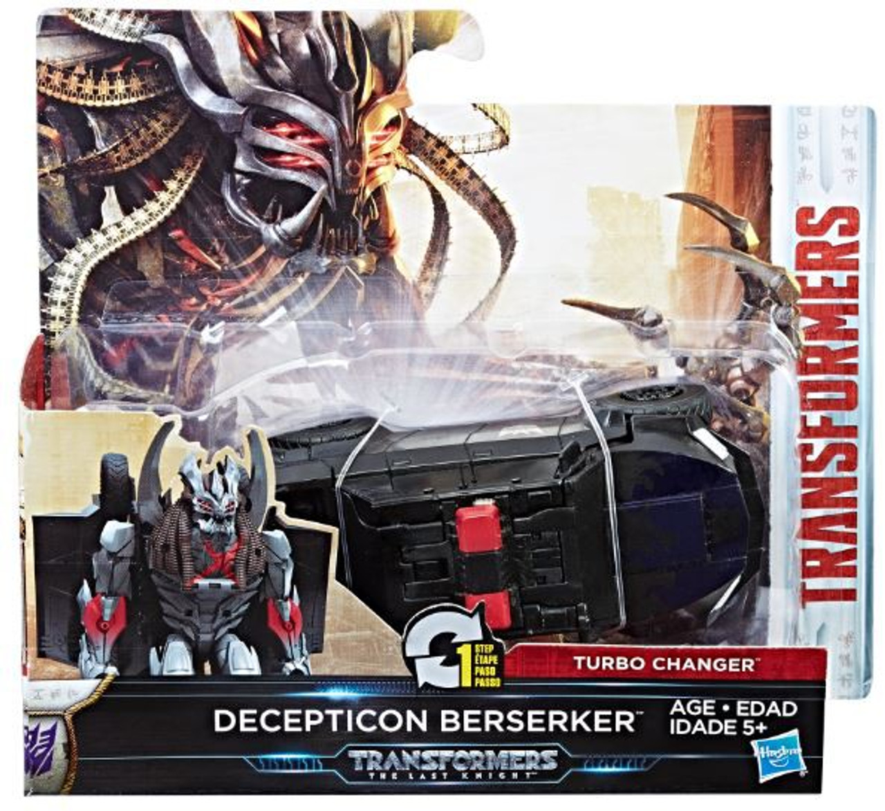 Transformers The Last Knight 1 Step Turbo Changer Decepticon Berserker Action Figure