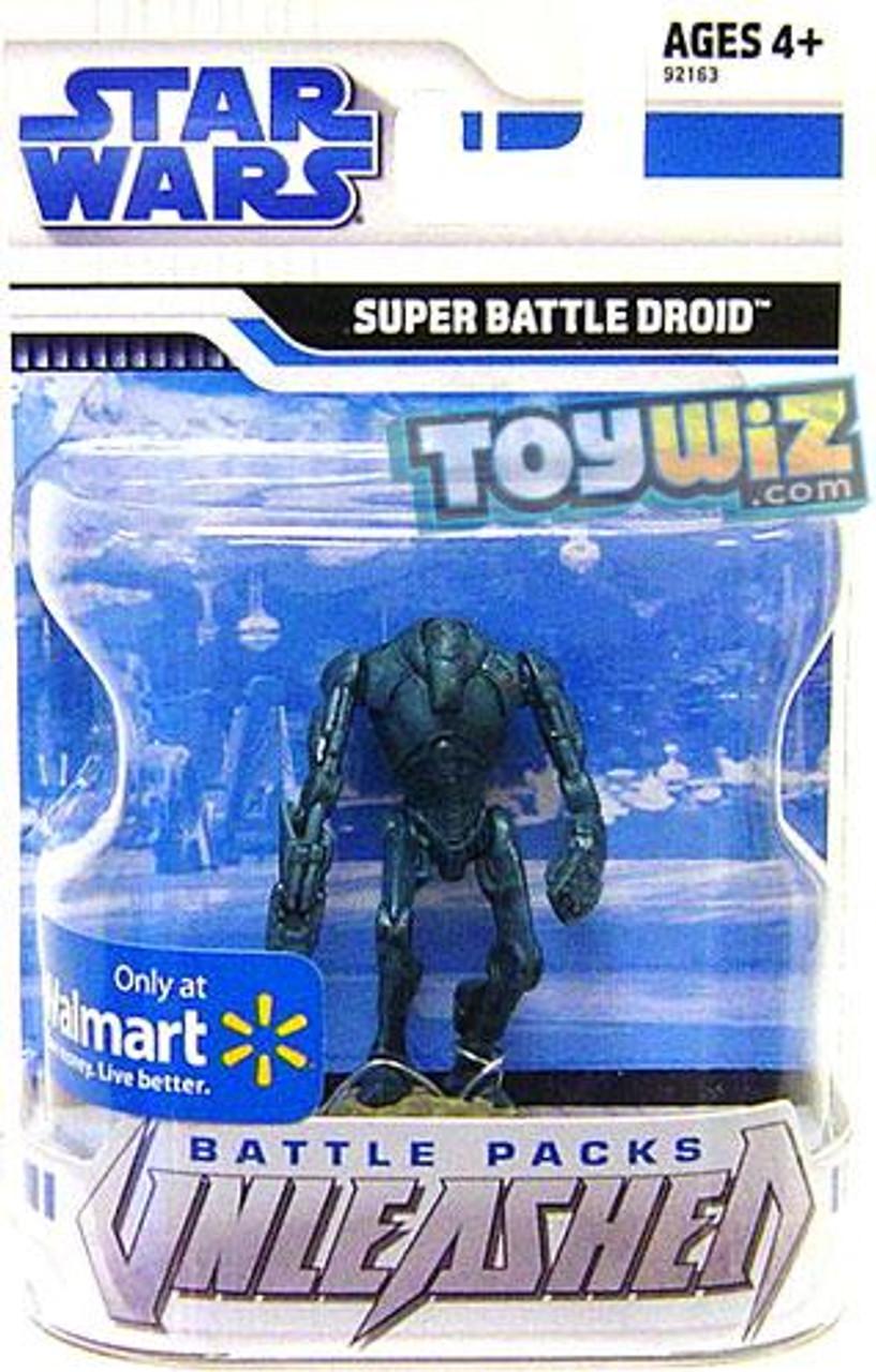 Star Wars The Clone Wars Unleashed Battle Packs 2009 Super Battle Droid Exclusive Action Figure