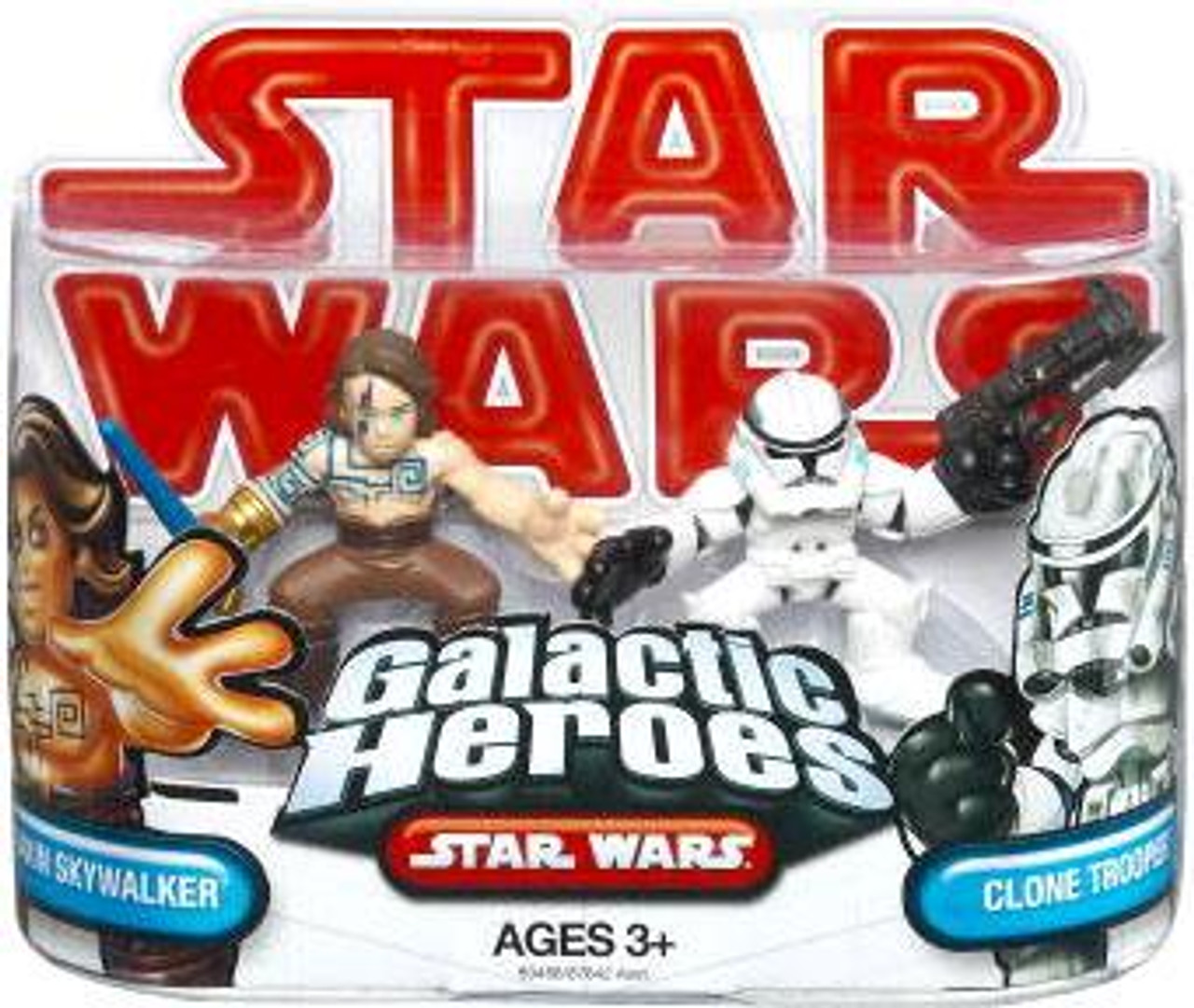 Star Wars The Clone Wars Galactic Heroes 2009 Anakin Skywalker [Tattoos] & Clone Trooper Mini Figure 2-Pack