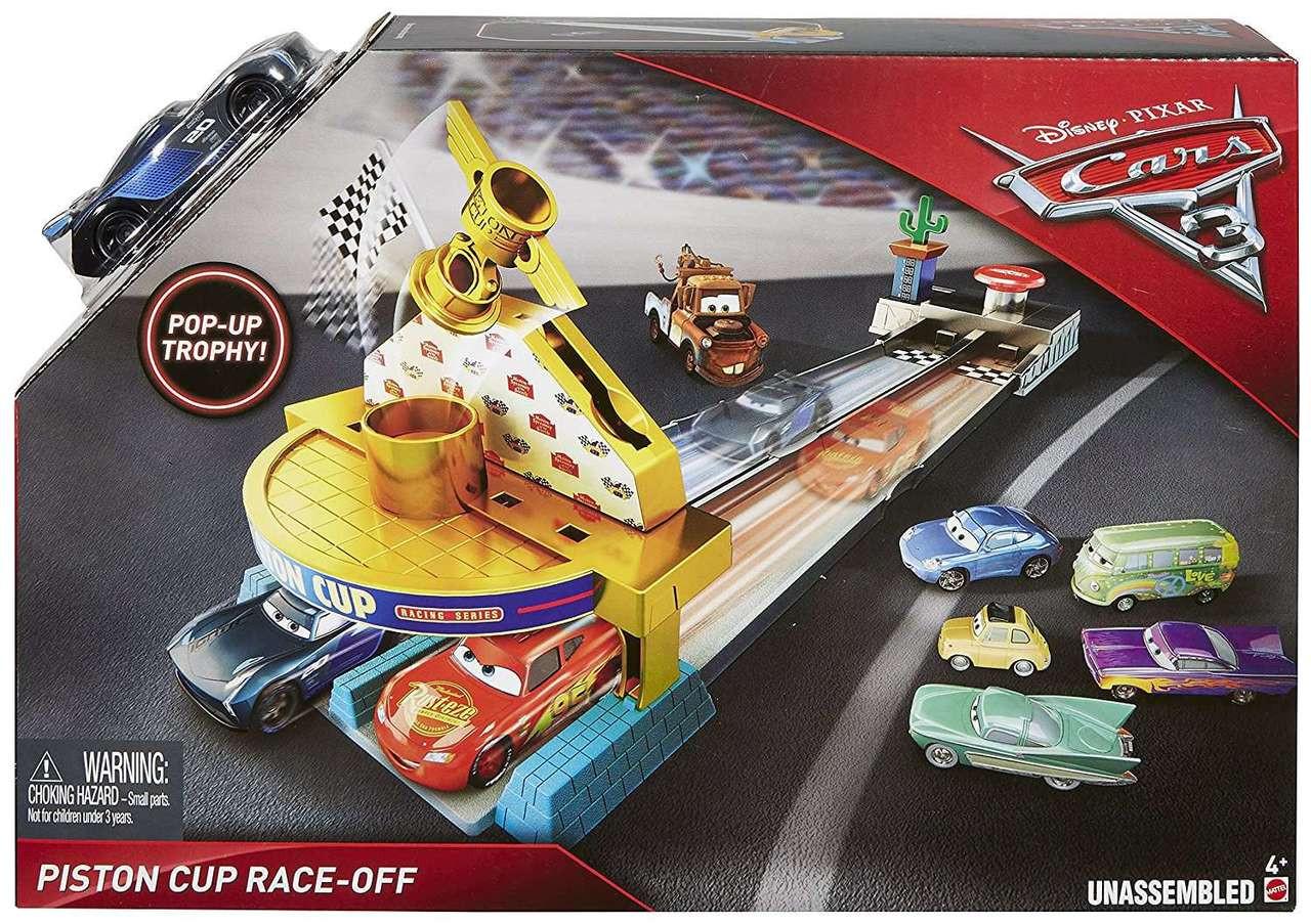 Mattel disney pixar cars 3 piston cup racers cars 1 to cars 3 visual - Disney Cars Cars 3 Piston Cup Race Off Playset