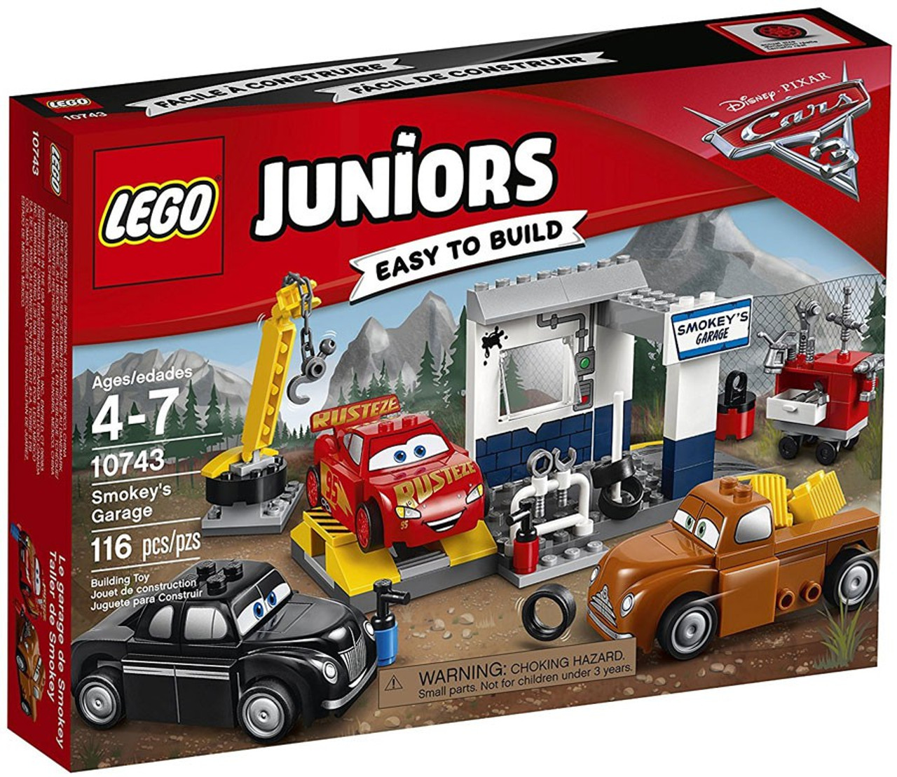Lego disney cars cars 3 juniors smokeys garage set 10743 toywiz - Letto cars disney ...