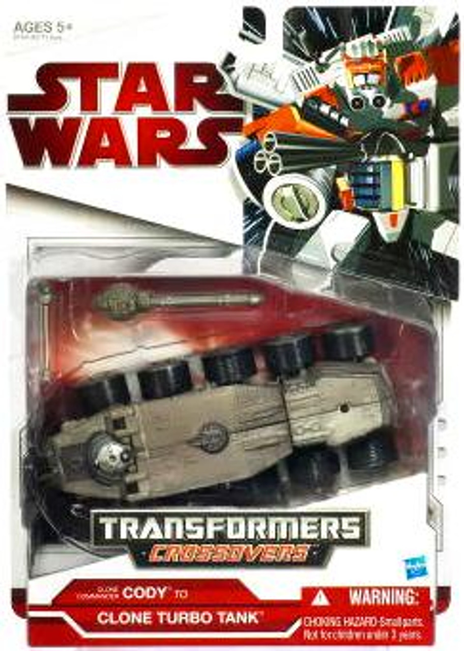 Star Wars The Clone Wars Transformers Crossovers 2009 Commander Cody to Turbo Tank Action Figure