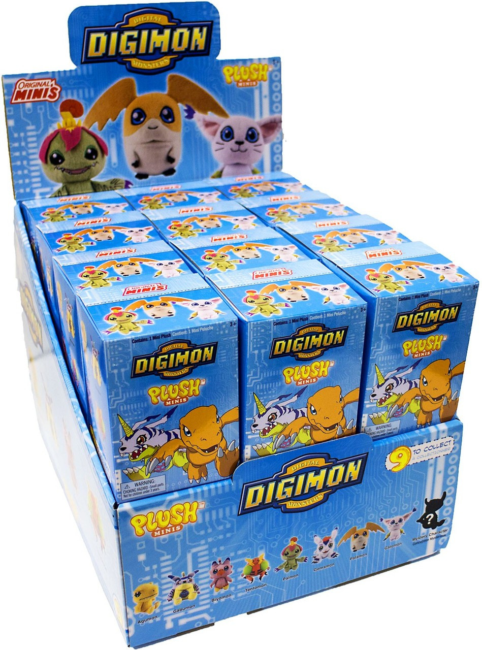 Toy Mystery Box : Digimon mini plush mystery box packs zag toys