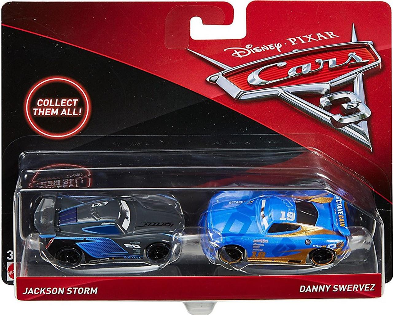 disney cars cars 3 jackson storm danny swervez diecast 2 pack mattel toys toywiz. Black Bedroom Furniture Sets. Home Design Ideas