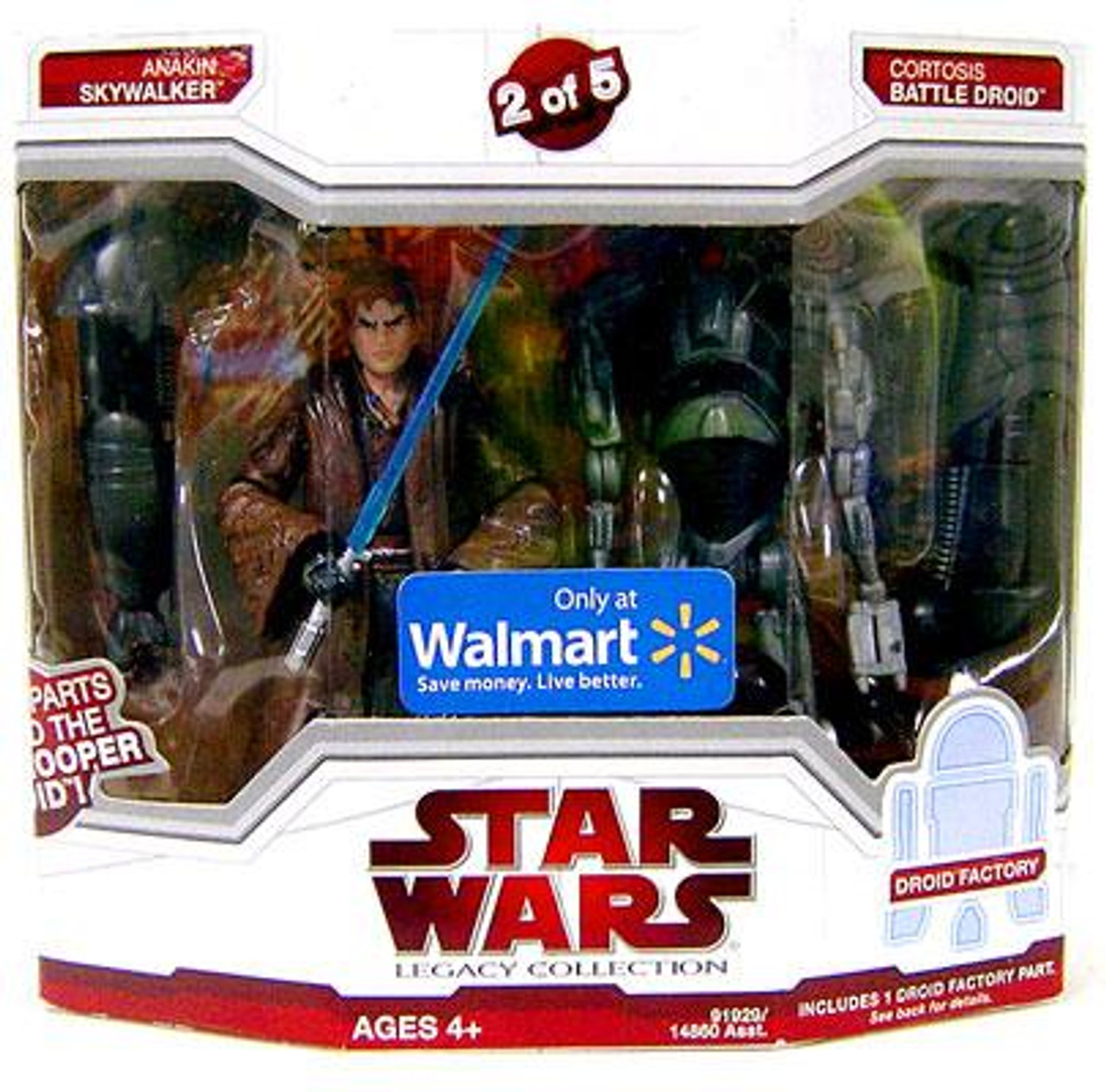 Star Wars The Clone Wars Legacy Collection 2009 Droid Factory Anakin Skywalker & Cortosis Battle Droid Exclusive Action Figure 2-Pack #2 of 5