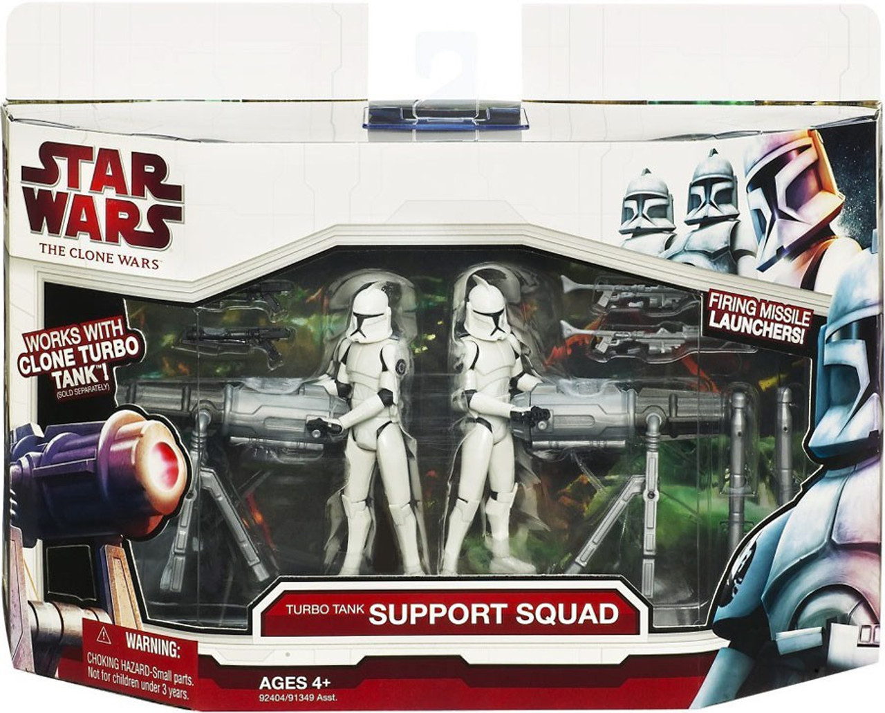 Star Wars The Clone Wars Vehicles & Action Figure Sets 2009 Turbo Tank Support Squad Action Figure Set