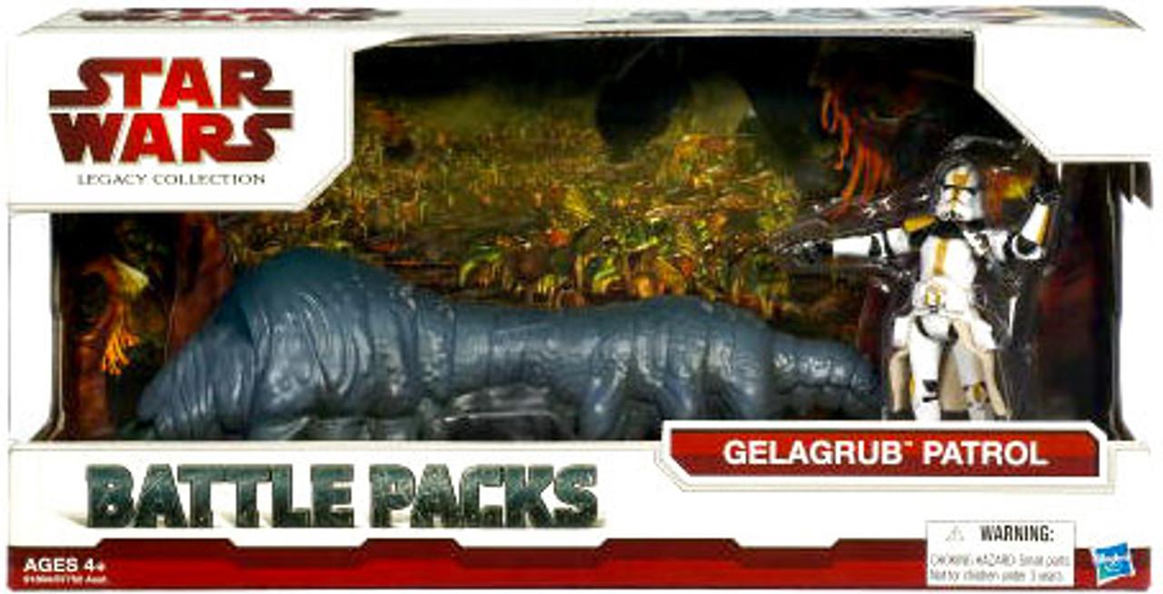 Star Wars The Clone Wars Battle Packs 2009 Legacy Collection Gelagrub Patrol Action Figure Set