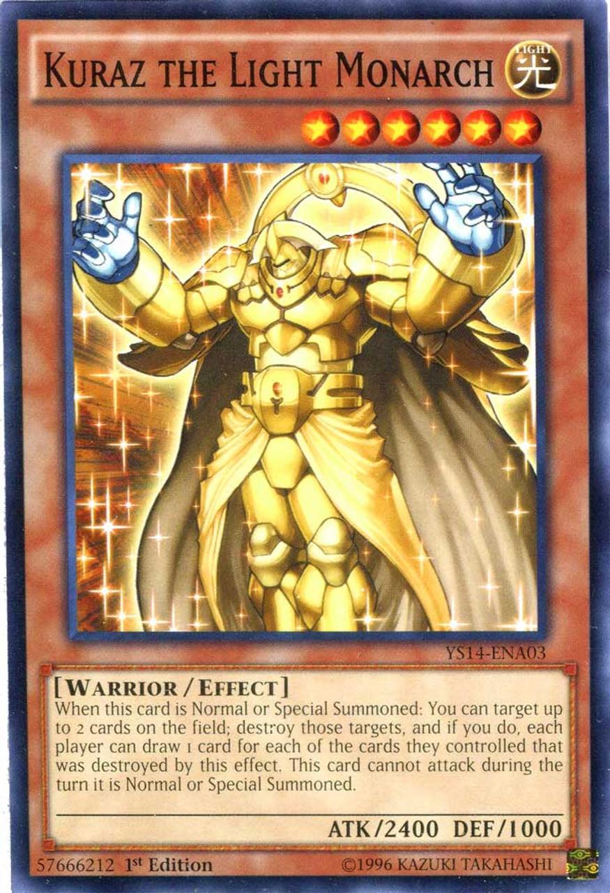 YuGiOh Space-Time Showdown Common Kuraz the Light Monarch YS14-ENA03