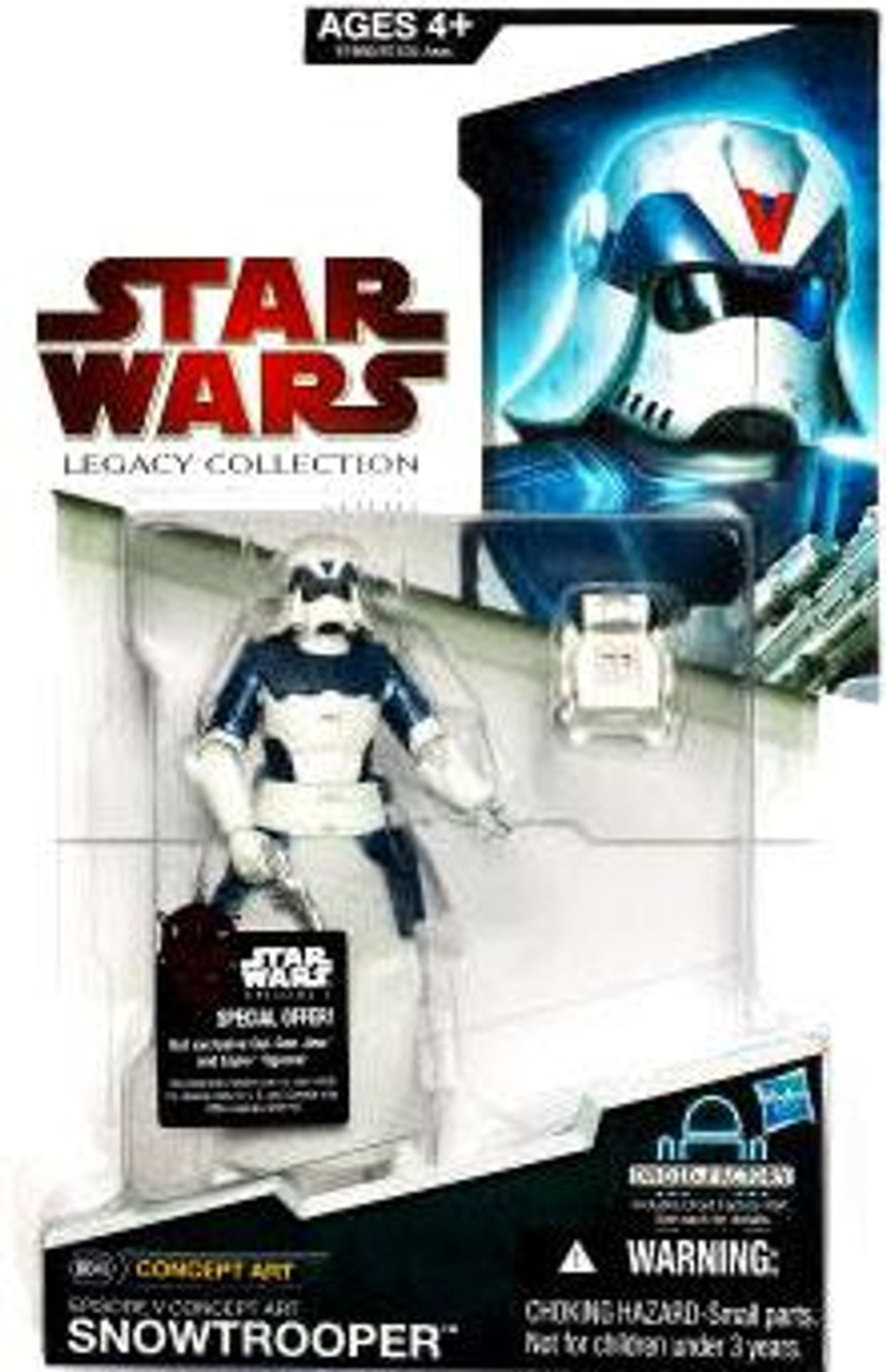 Star Wars Expanded Universe Legacy Collection 2009 Droid Factory Snowtrooper Action Figure BD48 [Concept Art]