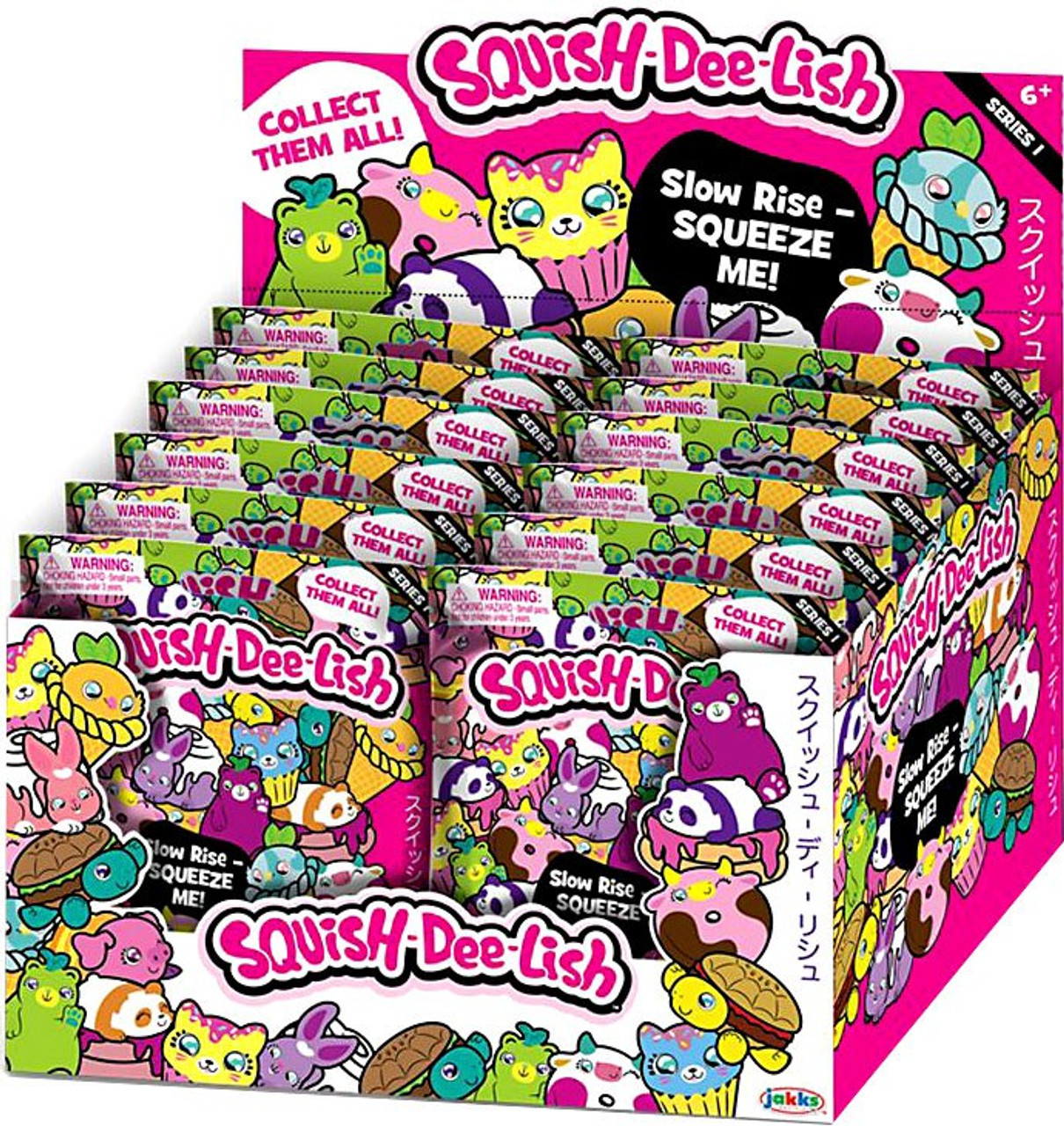 Squish Dee Lish Turtle : Squish-Dee-Lish Animals Series 1 Mystery Box 12 Packs Jakks Pacific - ToyWiz