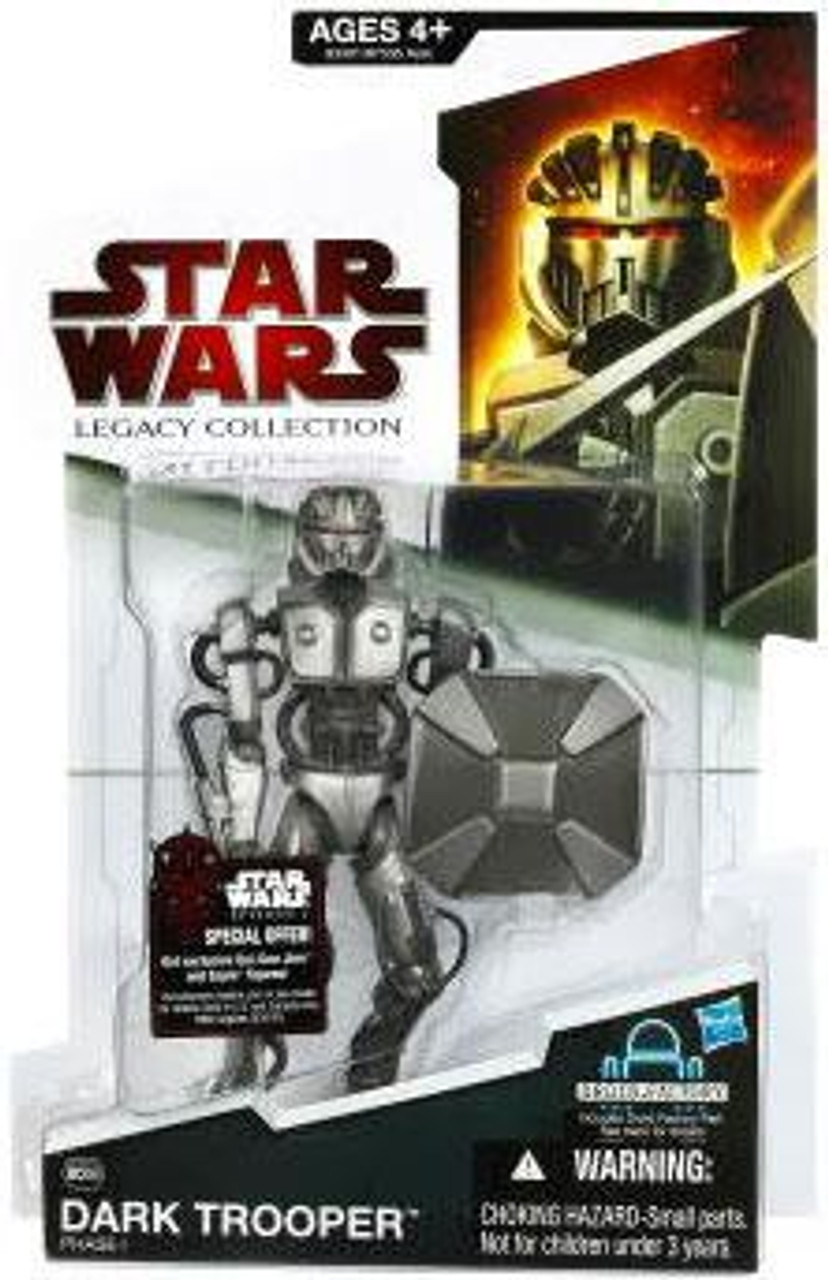 Star Wars Legacy Collection 2009 Droid Factory Dark Trooper Action Figure #56 [Phase I]