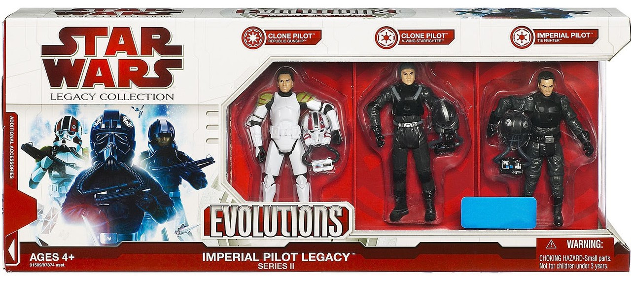 Star Wars Expanded Universe Legacy Collection 2009 Imperial Pilot Legacy Exclusive Action Figure Set [Series II]