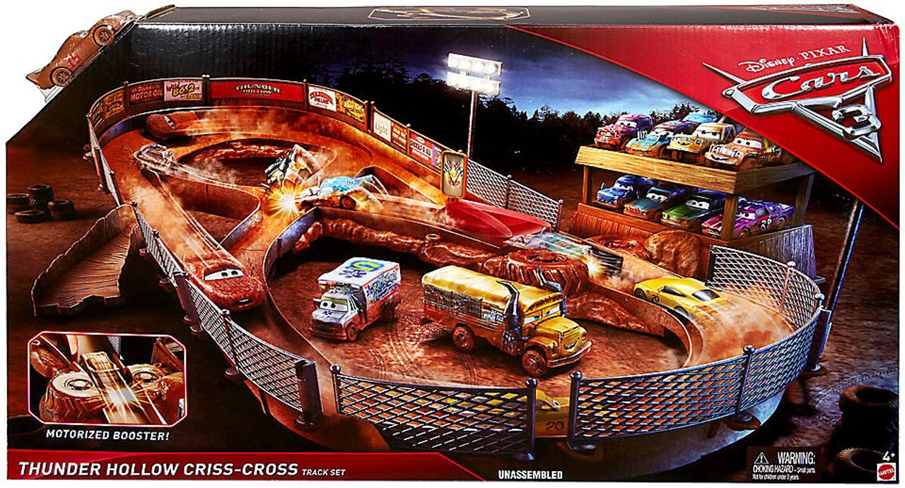 Disney cars cars 3 thunder hollow criss cross playset mattel toys toywiz - Coloriage cars 3 thunder hollow ...